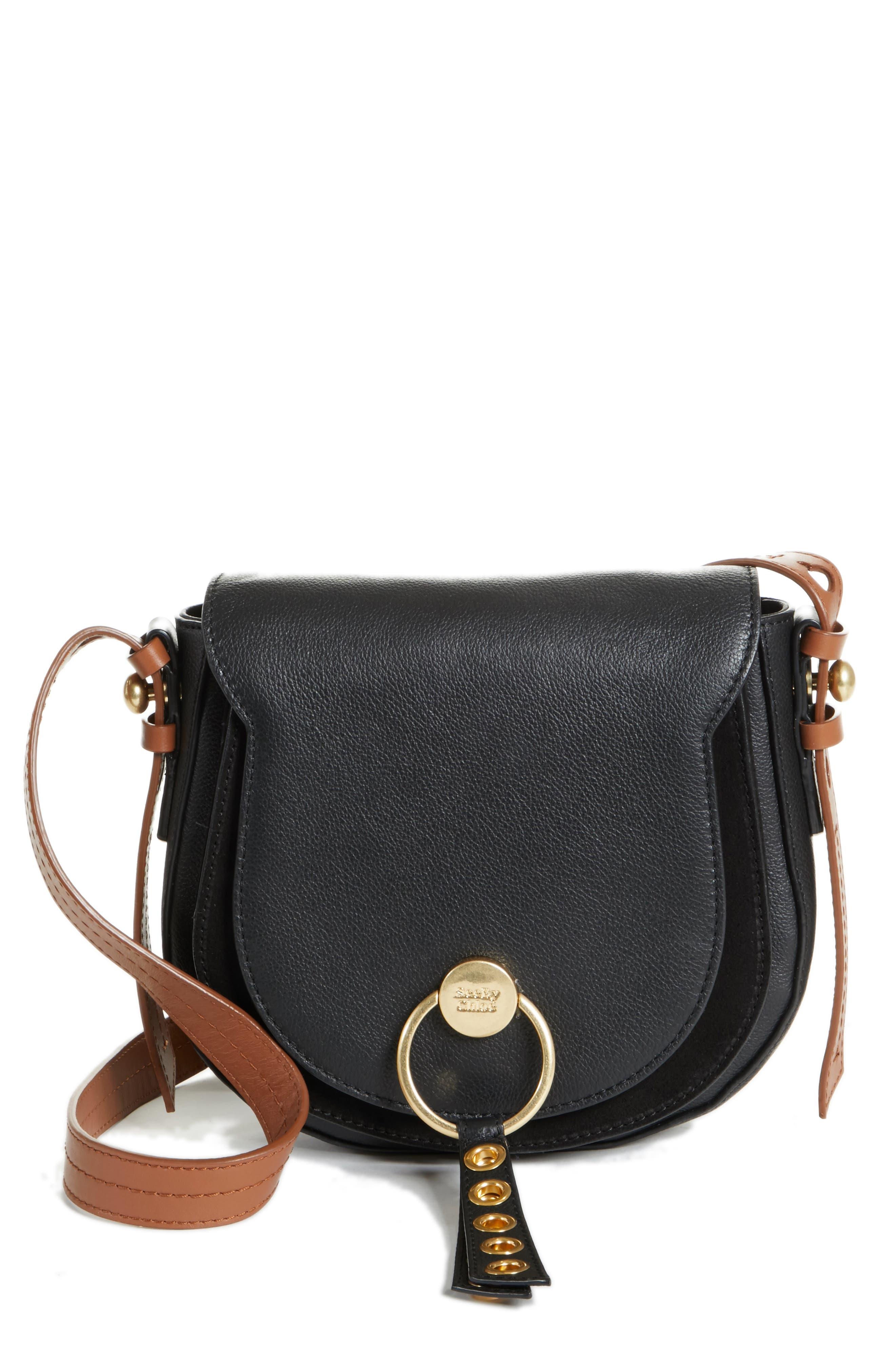 Small Lumir Leather Crossbody Bag,                             Main thumbnail 1, color,                             001