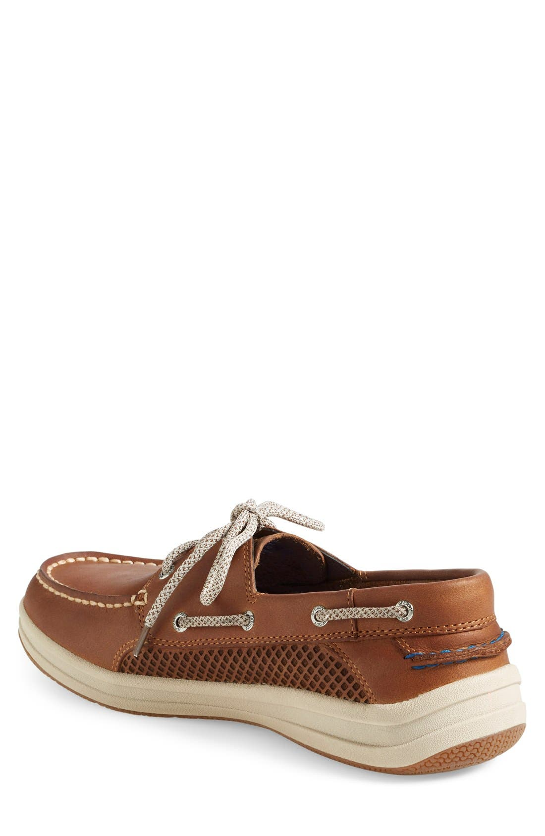 'Gamefish' Boat Shoe,                             Alternate thumbnail 2, color,                             COGNAC LEATHER