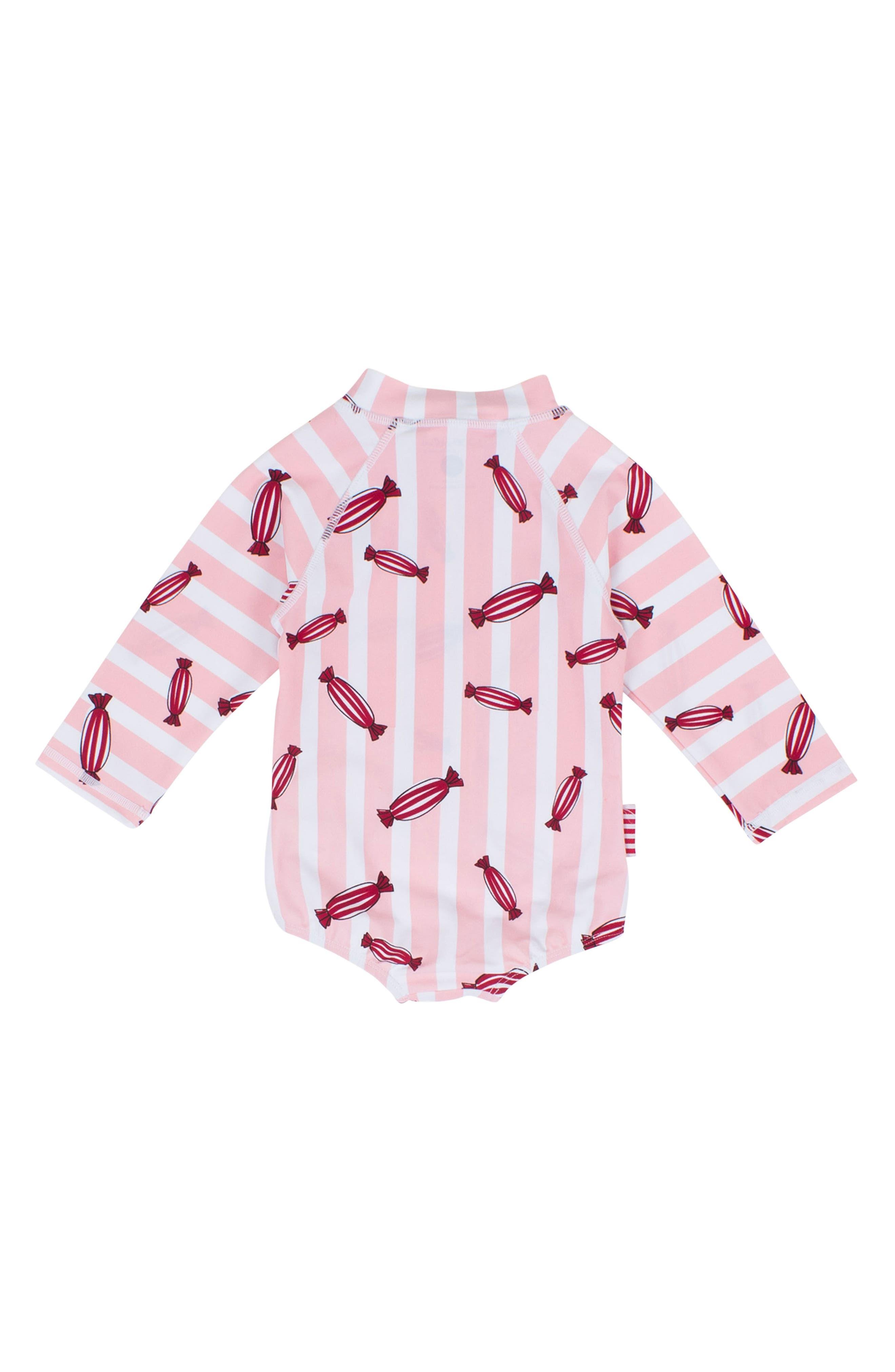 Bonbon One-Piece Rashguard Swimsuit,                             Alternate thumbnail 2, color,
