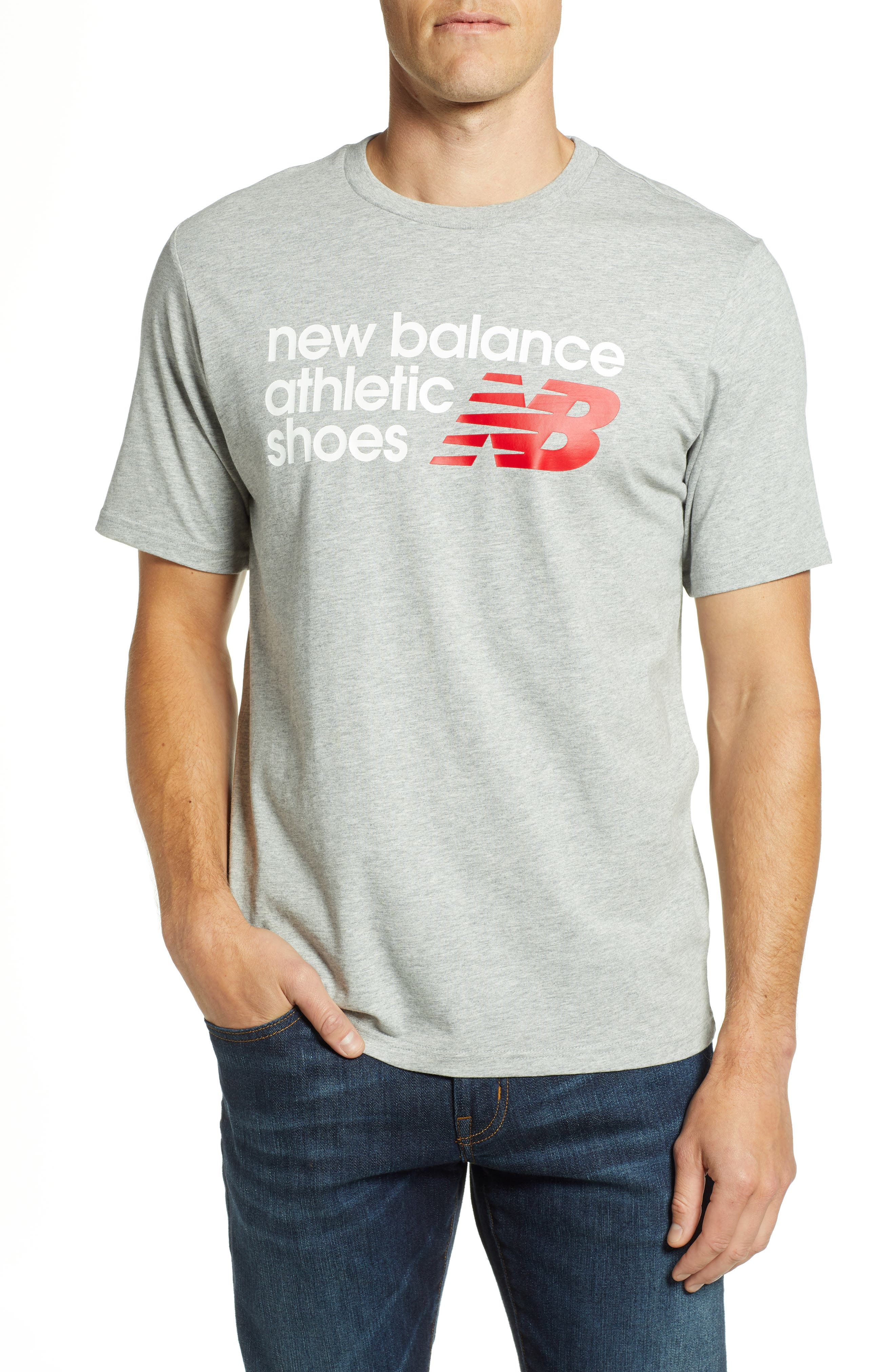 New Balance Nb Shoe Box Graphic T-Shirt, Grey