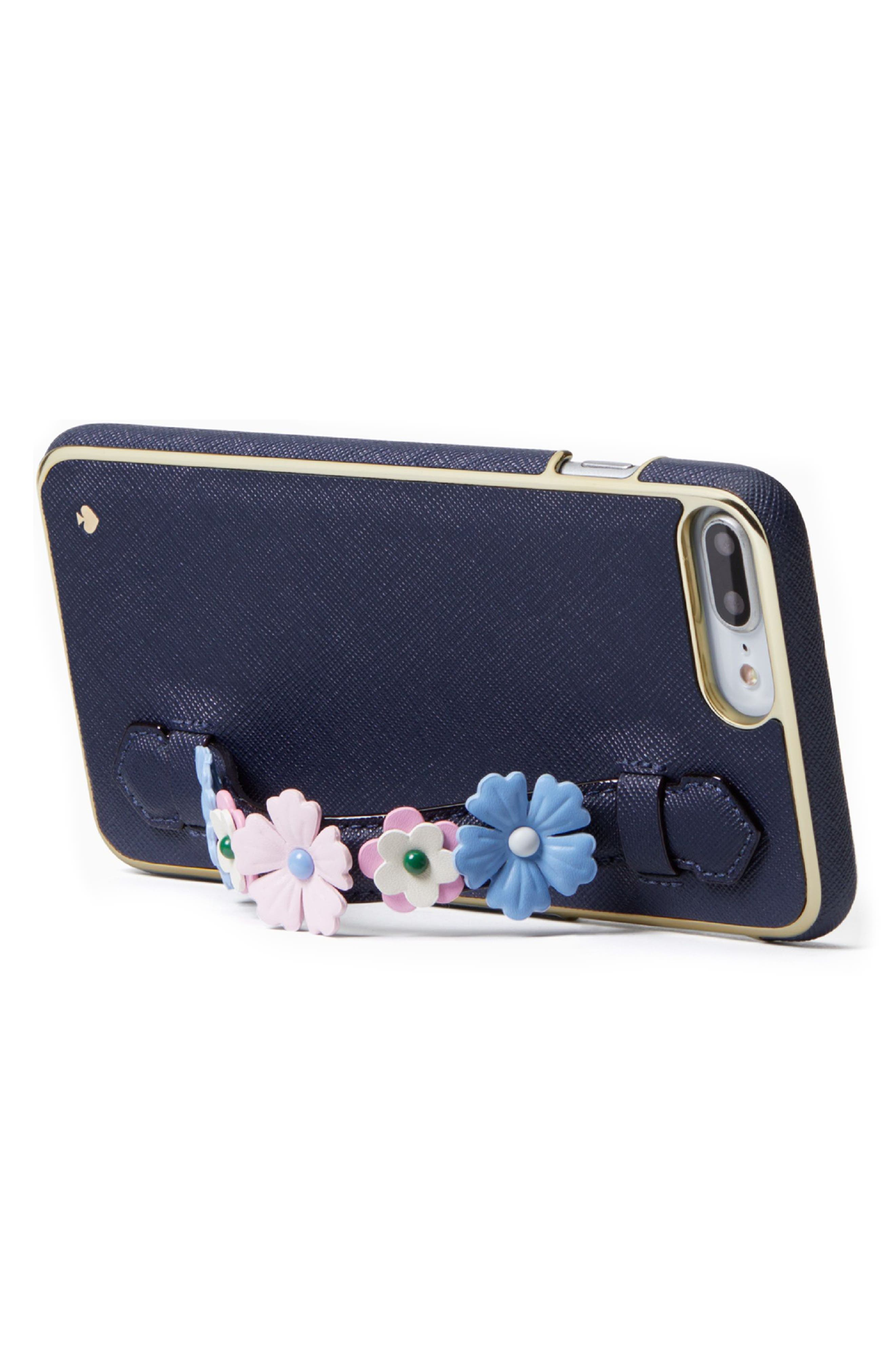 floral hand strap stand iPhone 7/8 Plus case,                             Alternate thumbnail 3, color,                             001