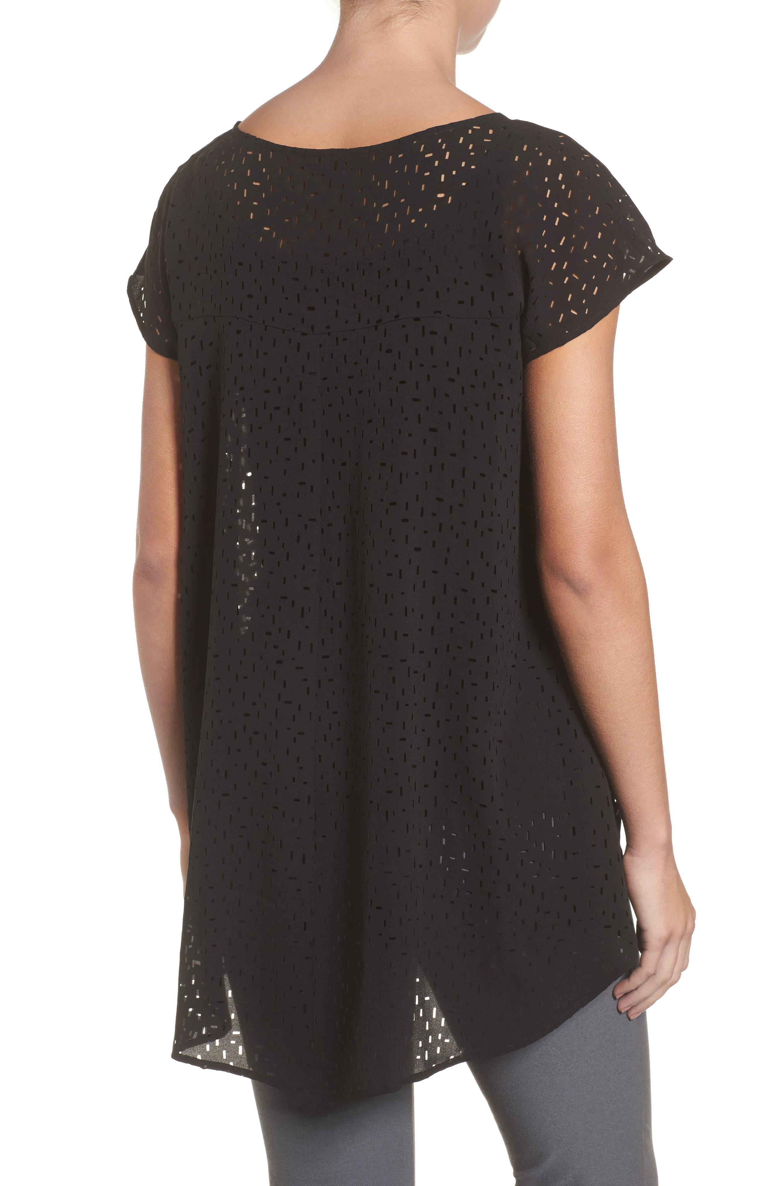 Cutwork Silk Top,                             Alternate thumbnail 3, color,