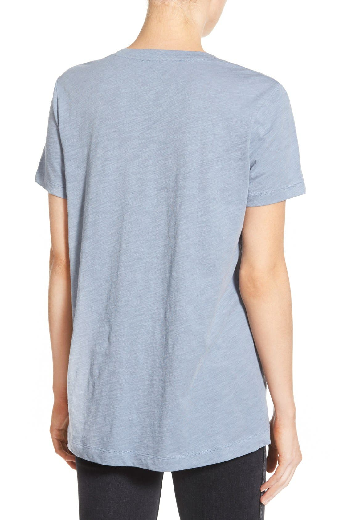 Whisper Cotton V-Neck Pocket Tee,                             Alternate thumbnail 66, color,