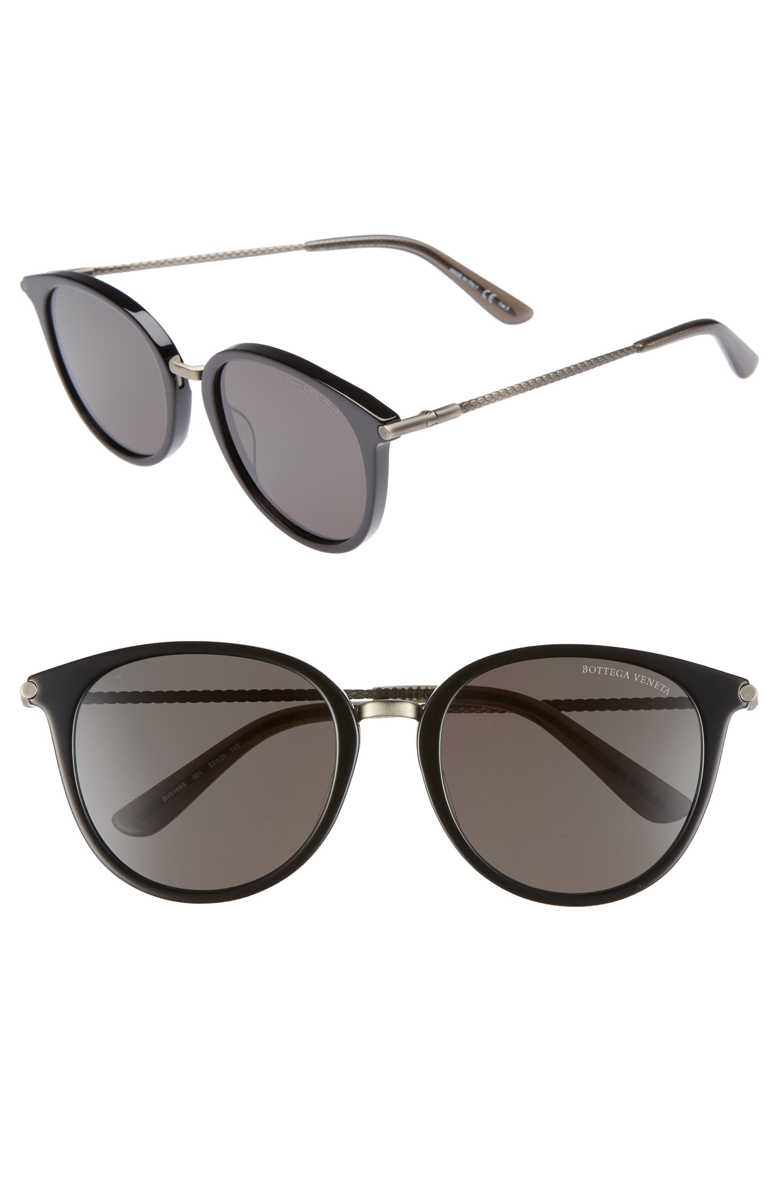 53mm Sunglasses,                         Main,                         color, GREY/ SILVER