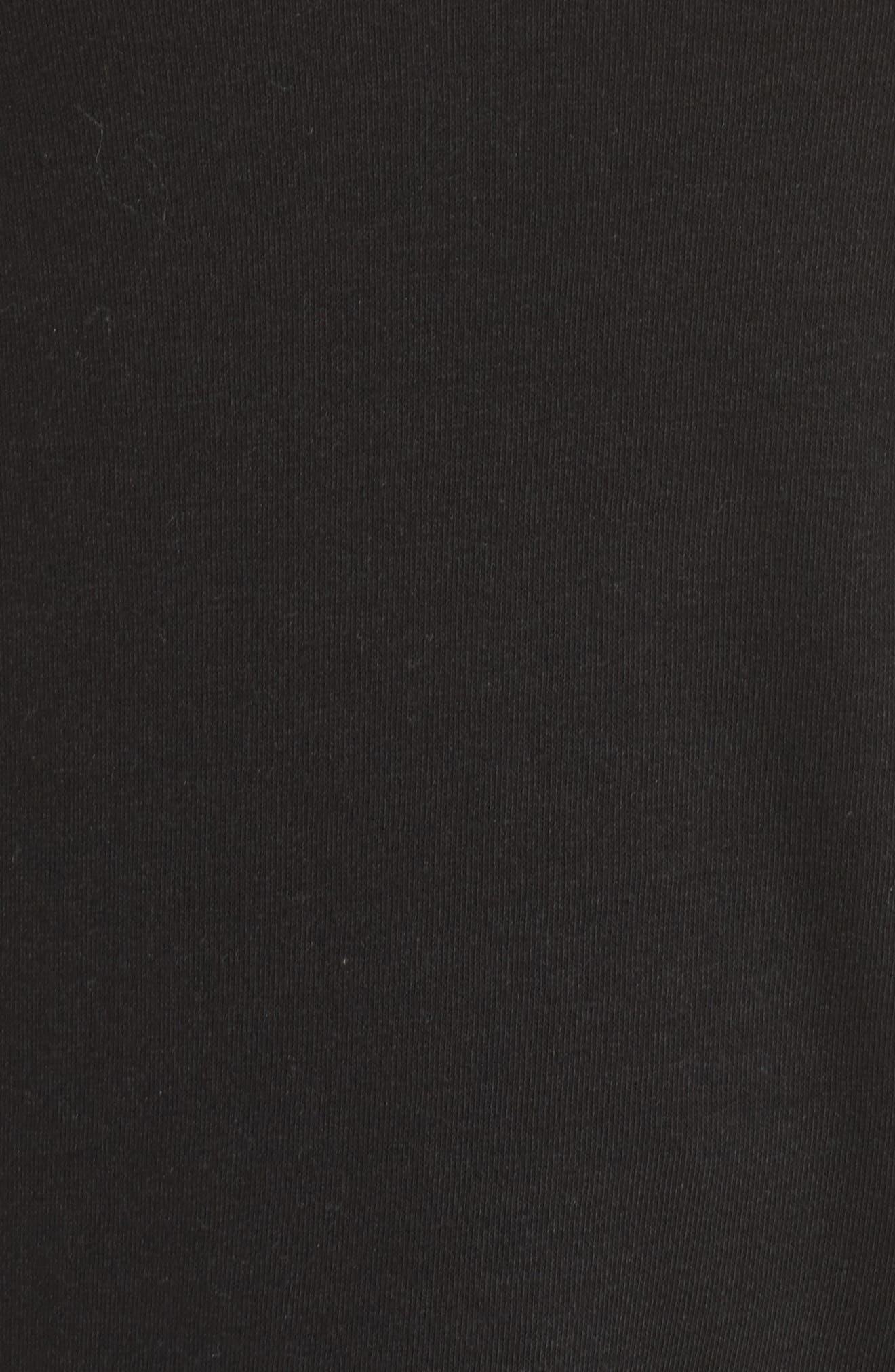 Ruffle Sleeve Yoke Linen Blend Tee,                             Alternate thumbnail 6, color,                             001
