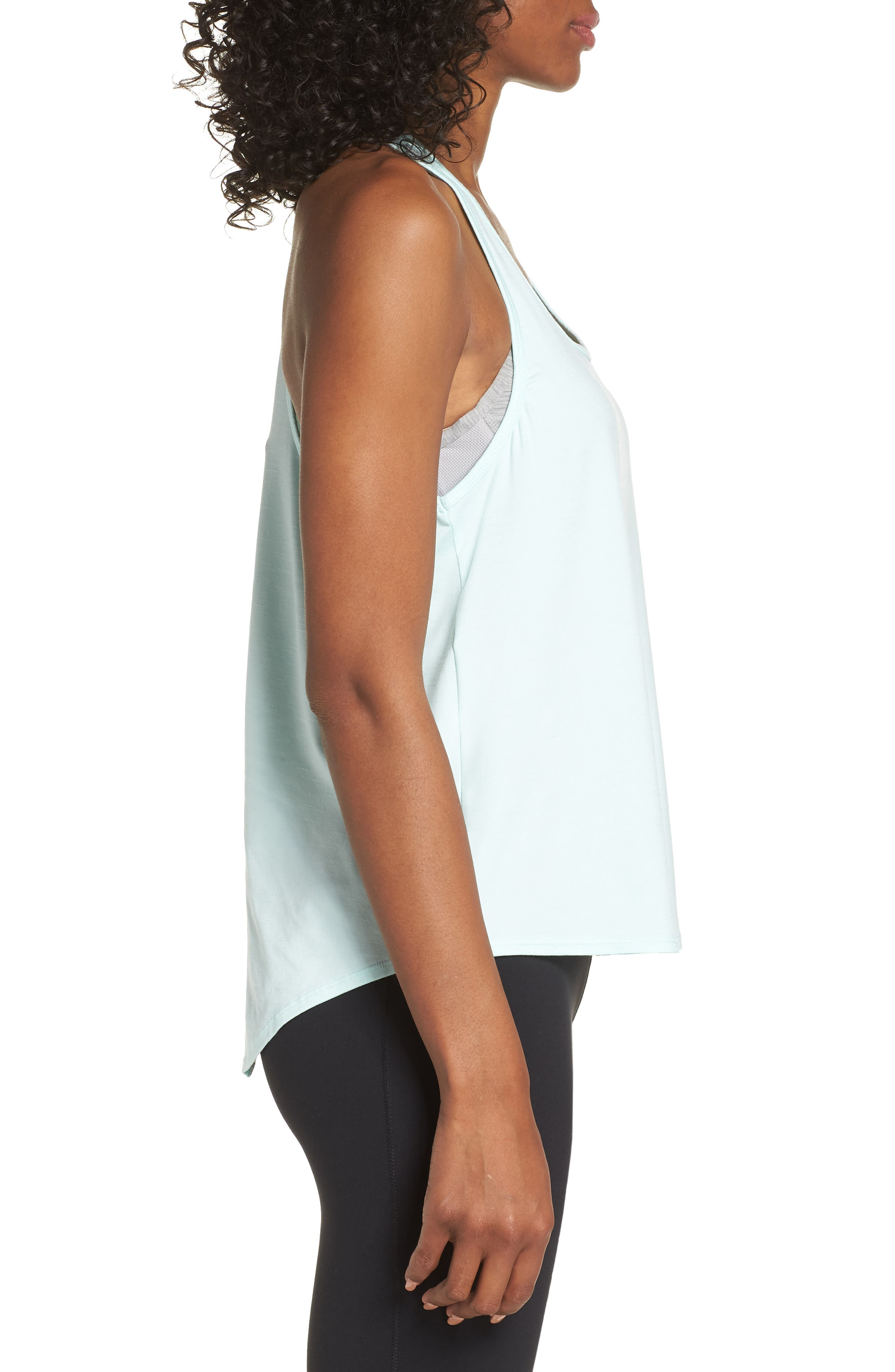ZELLA,                             Intention Tank,                             Alternate thumbnail 5, color,                             TEAL FAIR