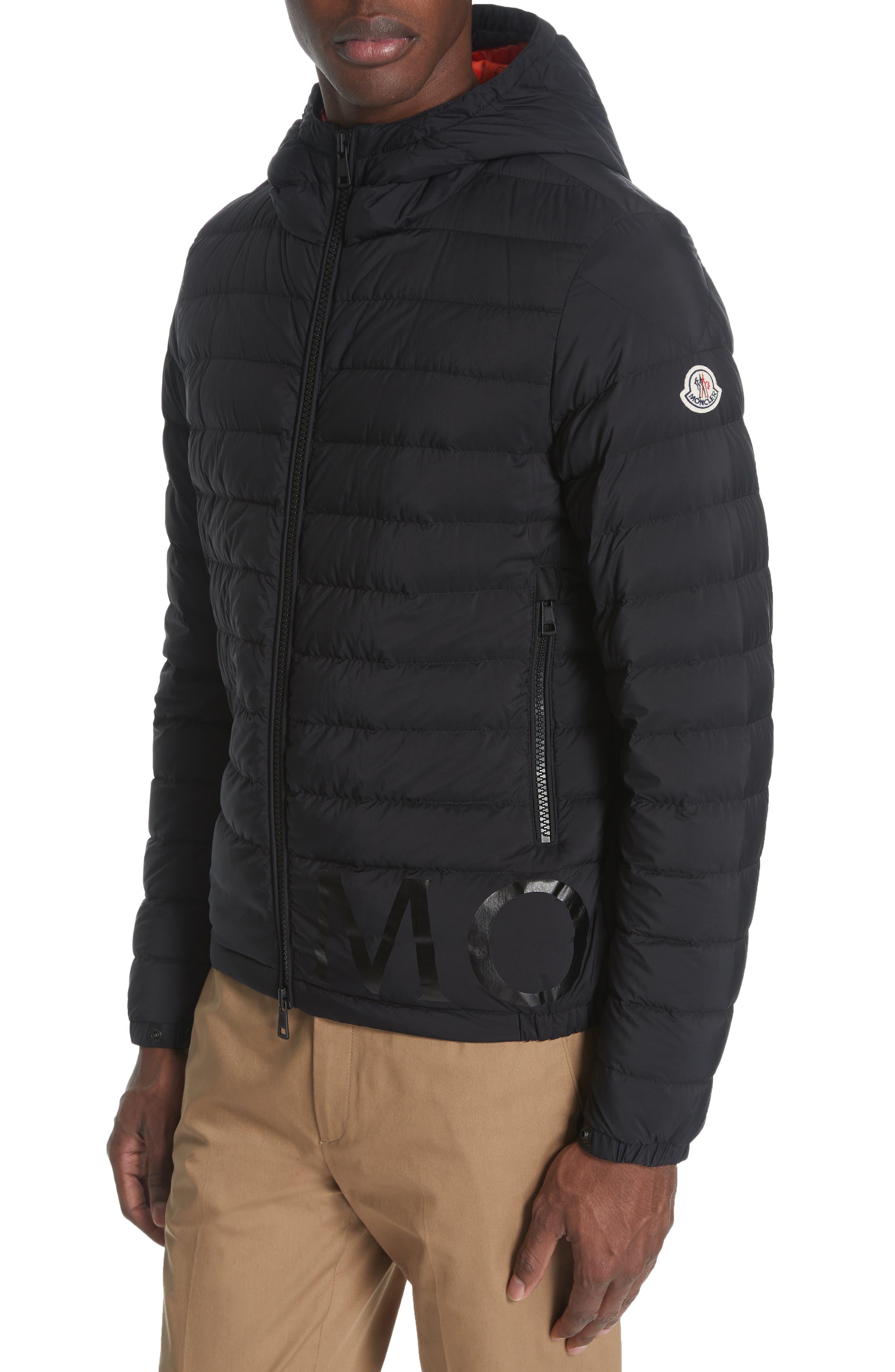 MONCLER Dreux Hooded Down Jacket, Main, color, BLACK