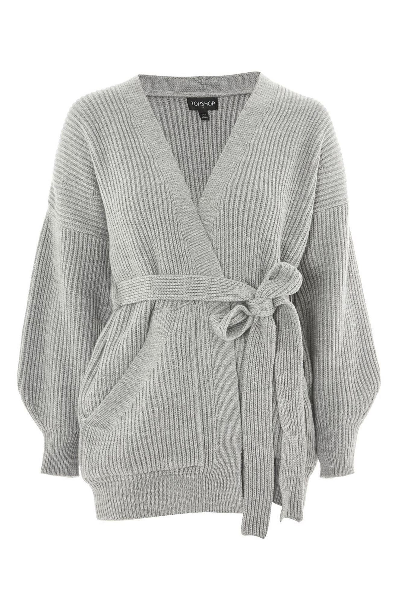 Belted Cardigan,                             Alternate thumbnail 3, color,                             020