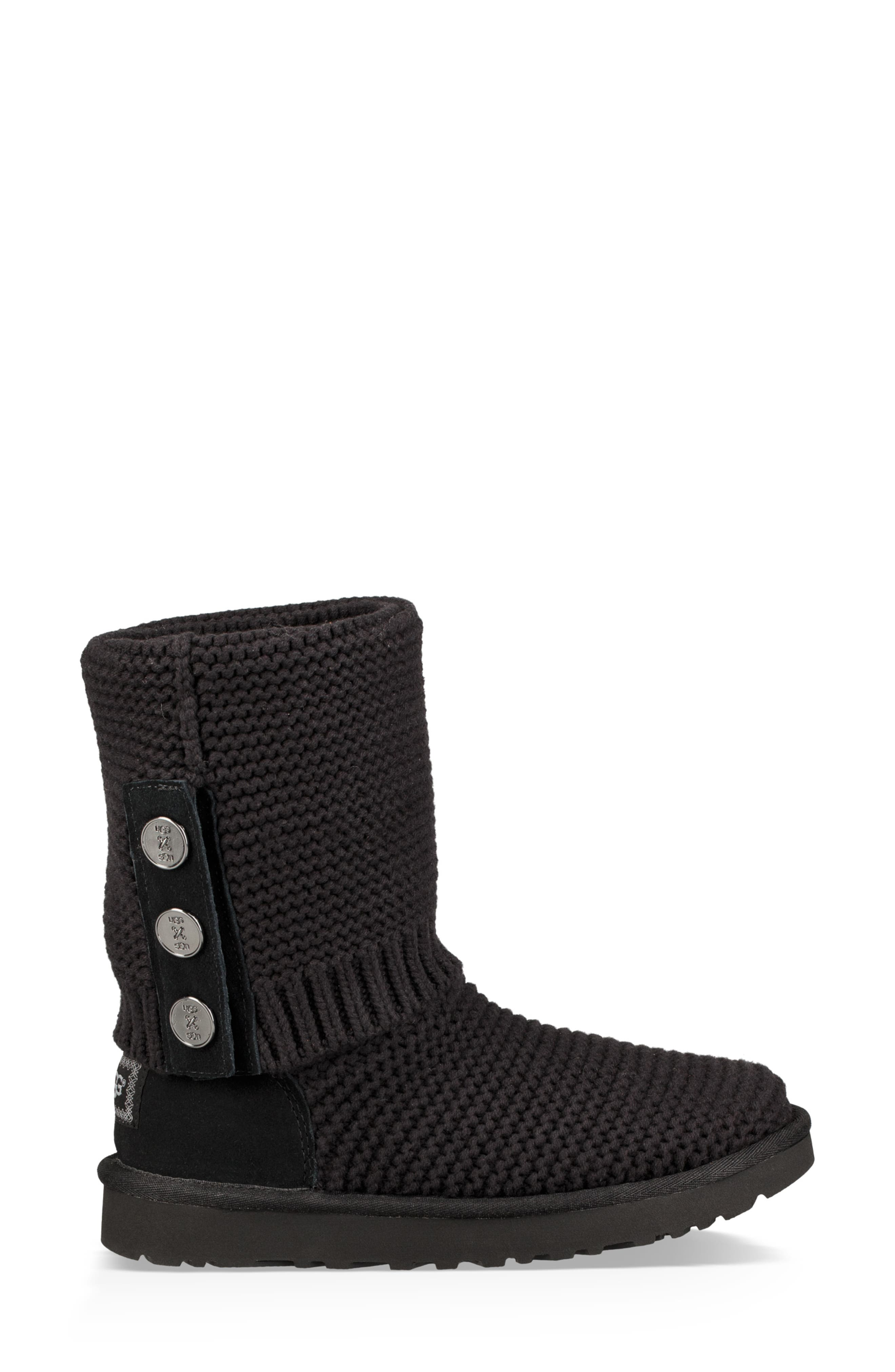 UGG<SUP>®</SUP>,                             Purl Cardy Knit Boot,                             Alternate thumbnail 7, color,                             001