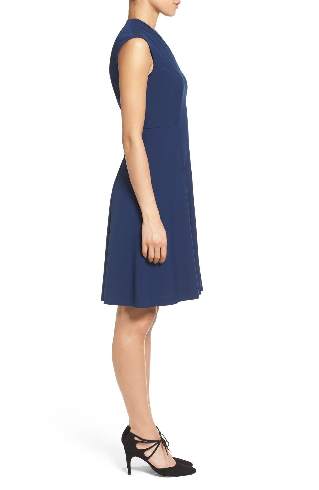 Fit & Flare Dress,                             Alternate thumbnail 12, color,