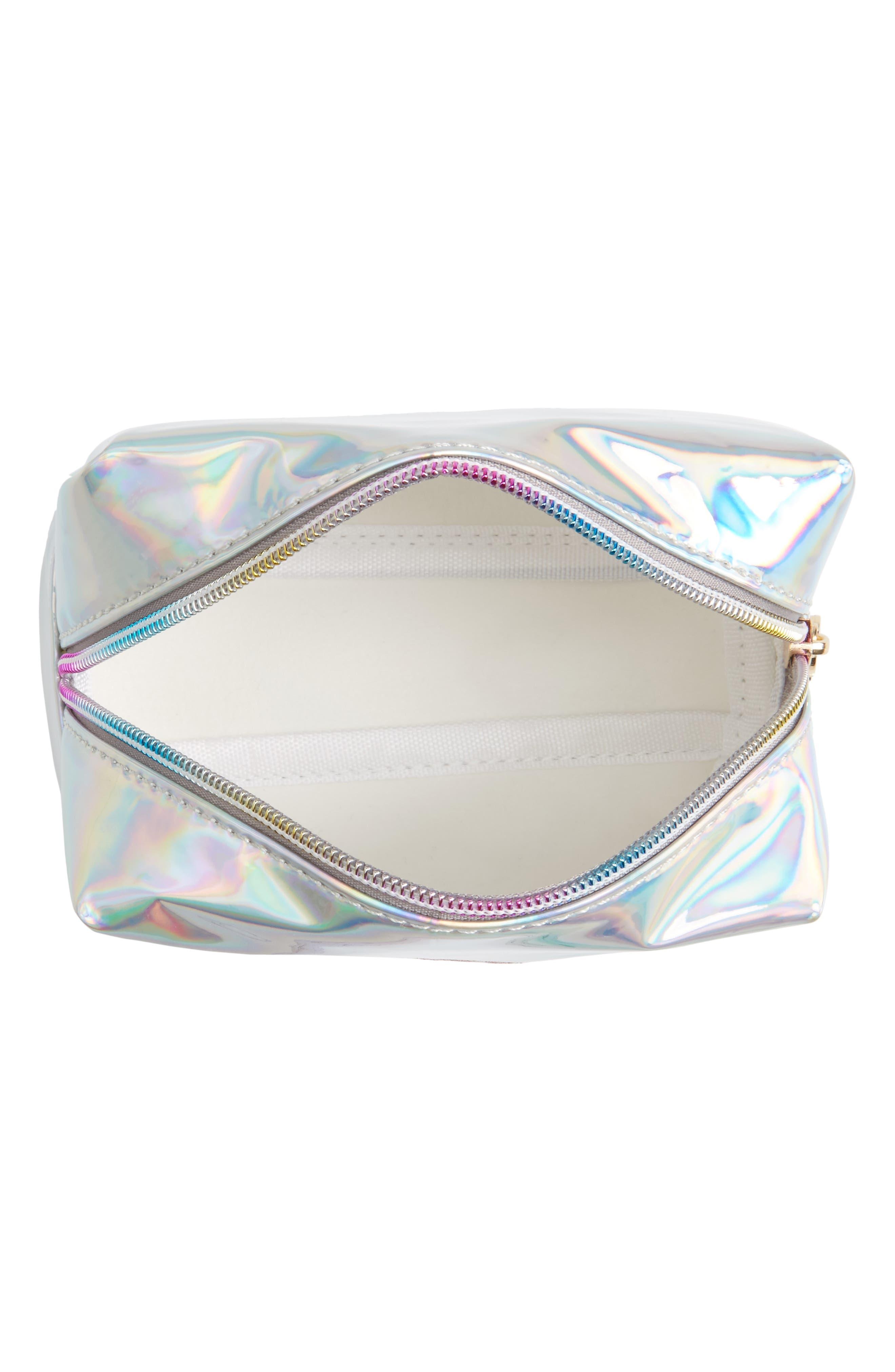 Glitter Eye Iridescent Cosmetics Bag,                             Alternate thumbnail 3, color,                             040