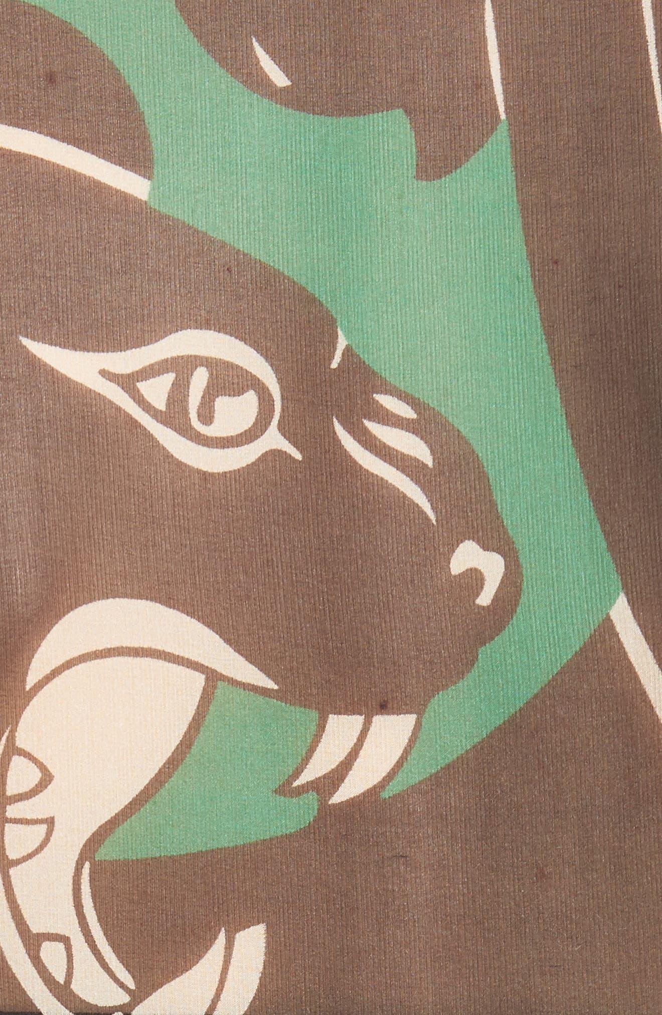 Panther Print Silk Chiffon Blouse,                             Alternate thumbnail 5, color,                             001