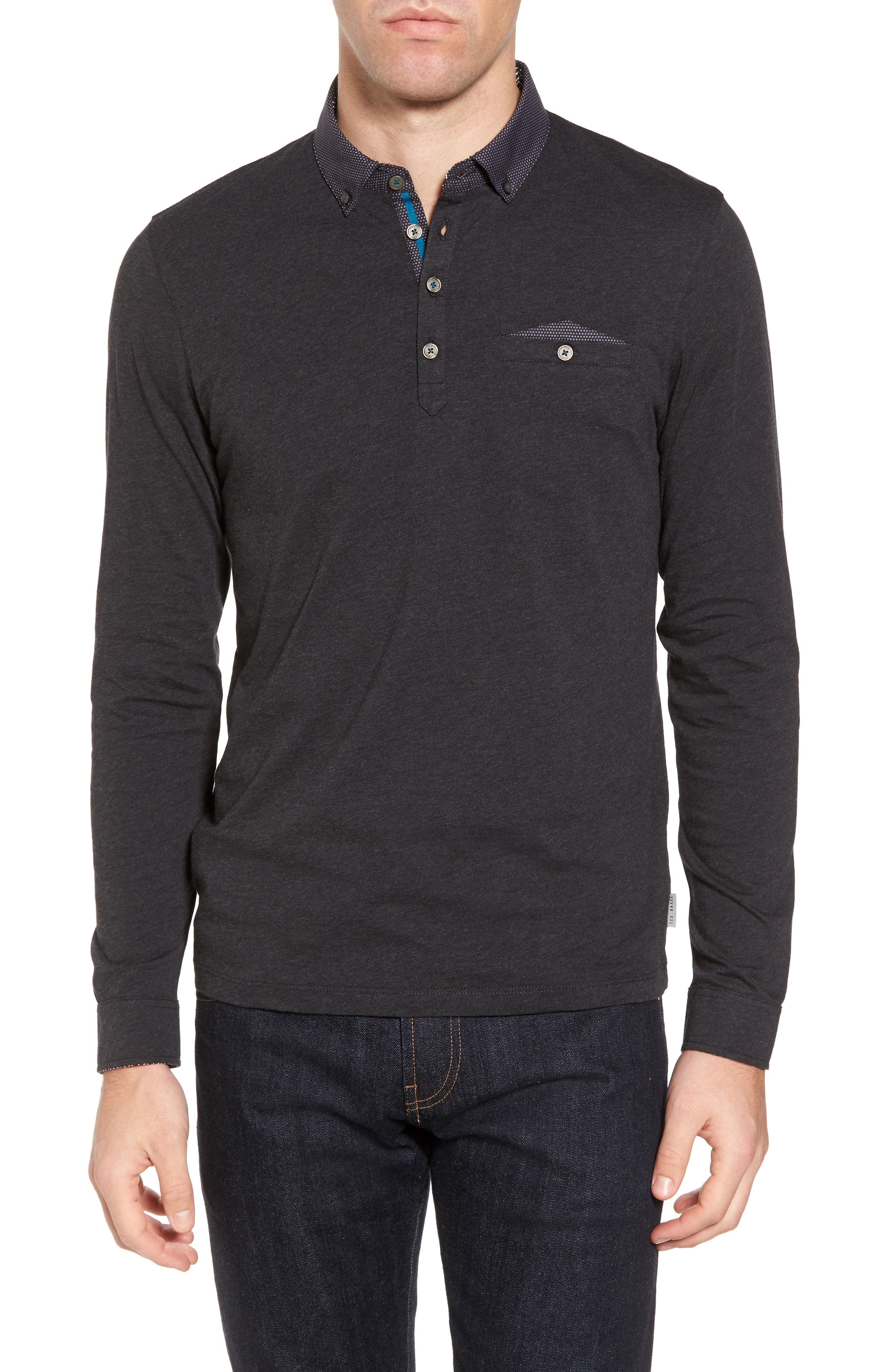 Spresso Long Sleeve Polo,                         Main,                         color, 010