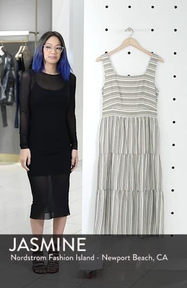Sleeveless Stripe Midi Dress, sales video thumbnail