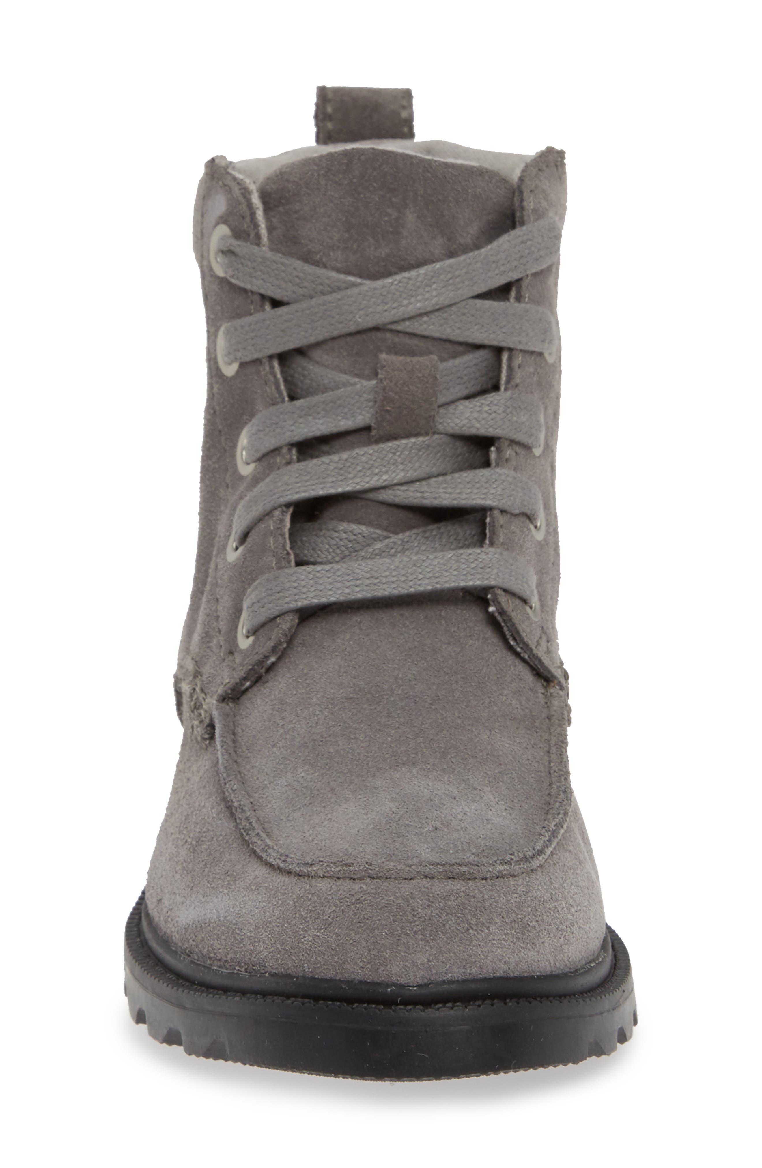 Madson Waterproof Moc Toe Boot,                             Alternate thumbnail 4, color,                             QUARRY/ CHROME