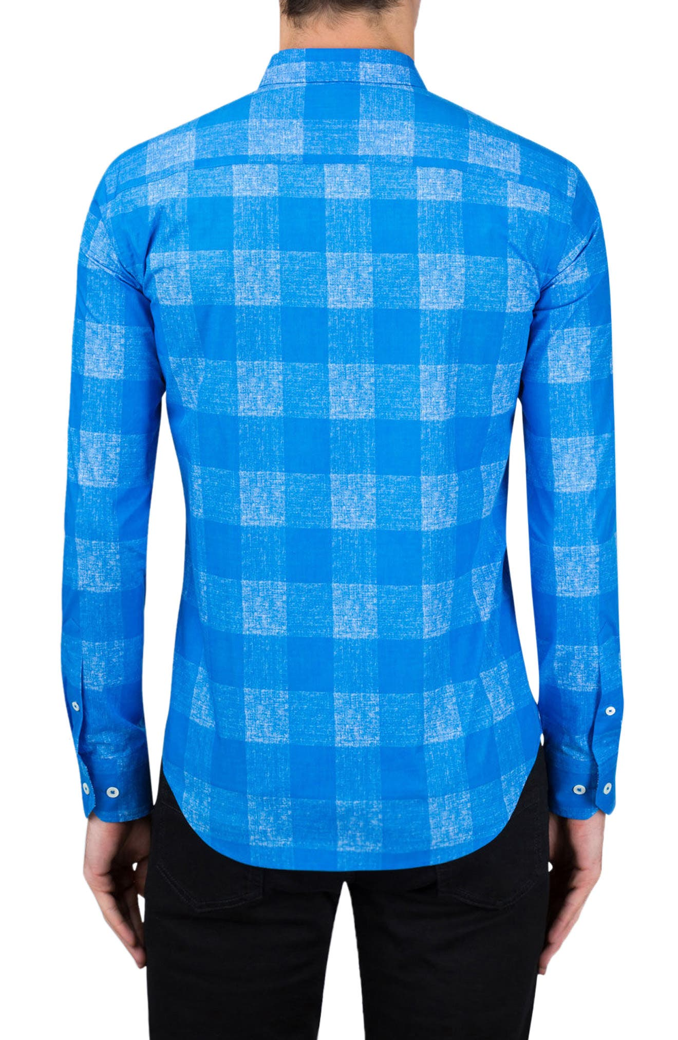 Classic Fit Check Sport Shirt,                             Alternate thumbnail 2, color,