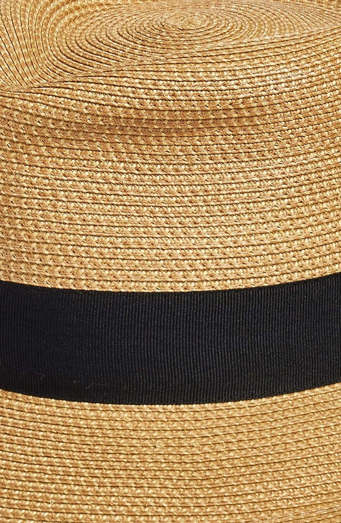 'Classic' Squishee<sup>®</sup> Packable Fedora Sun Hat,                             Alternate thumbnail 2, color,                             NATURAL/ BLACK