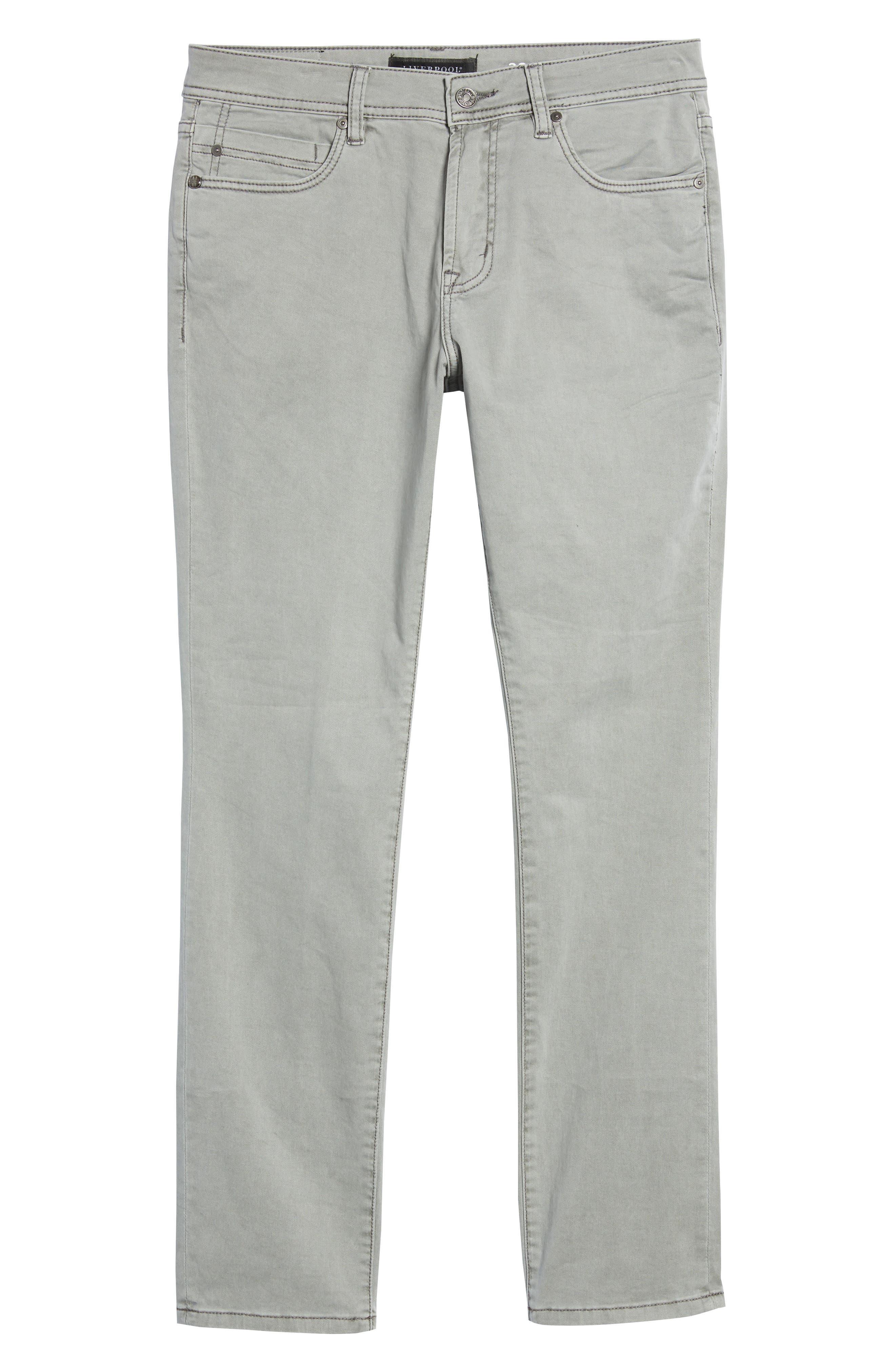 Jeans Co. Slim Straight Leg Jeans,                             Alternate thumbnail 6, color,                             SHARKSKIN