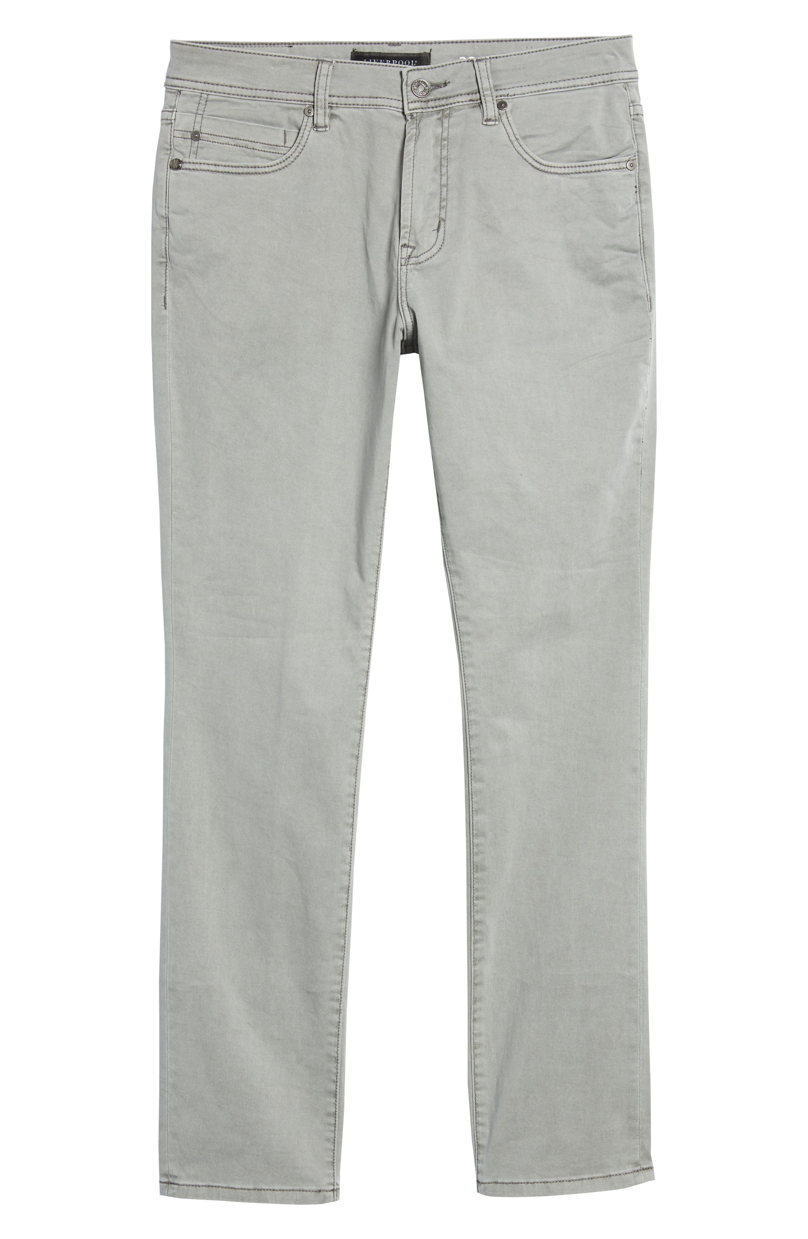 LIVERPOOL,                             Regent Relaxed Straight Leg Twill Pants,                             Alternate thumbnail 6, color,                             SHARKSKIN