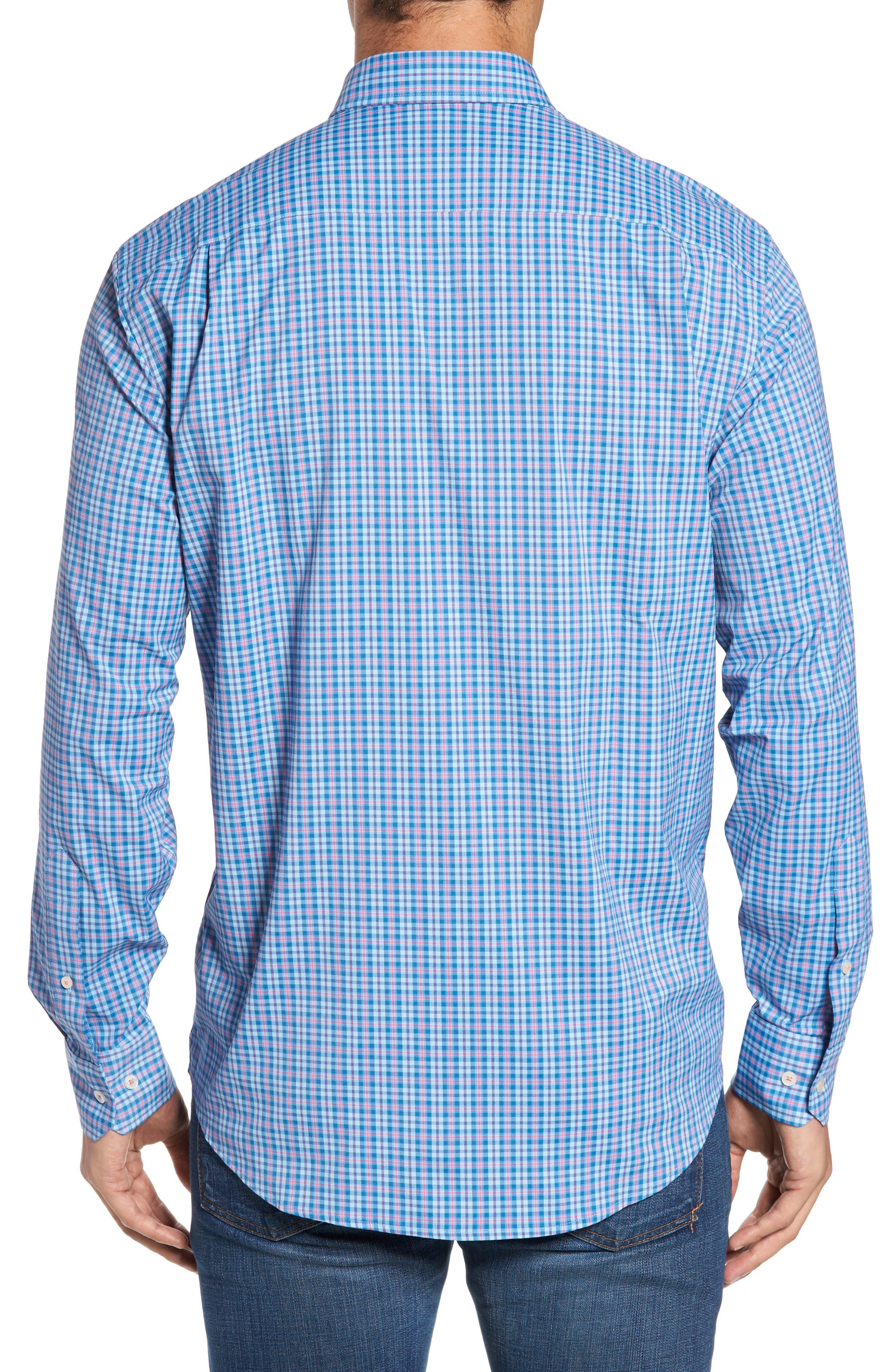 Intercoastal Regular Fit Bayview Plaid Performance Sport Shirt,                             Alternate thumbnail 2, color,                             416