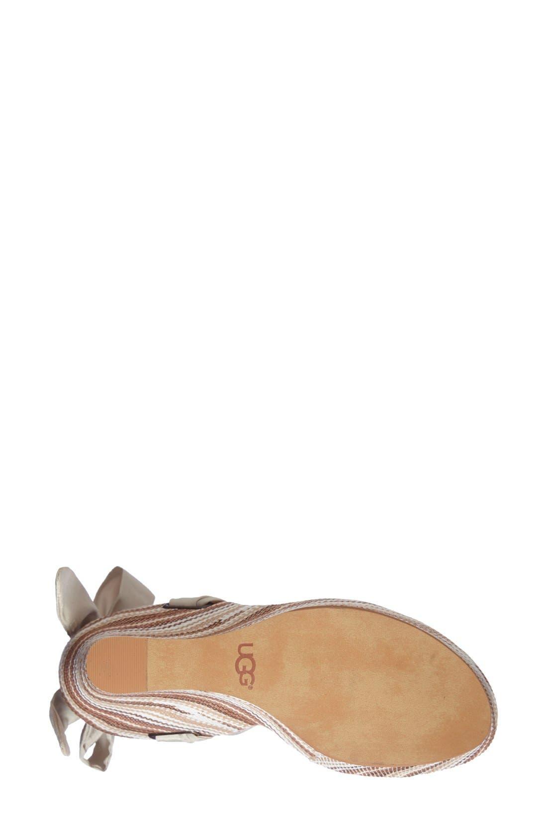 UGG<SUP>®</SUP>,                             'Jules Serape' Platform Wedge Sandal,                             Alternate thumbnail 2, color,                             201