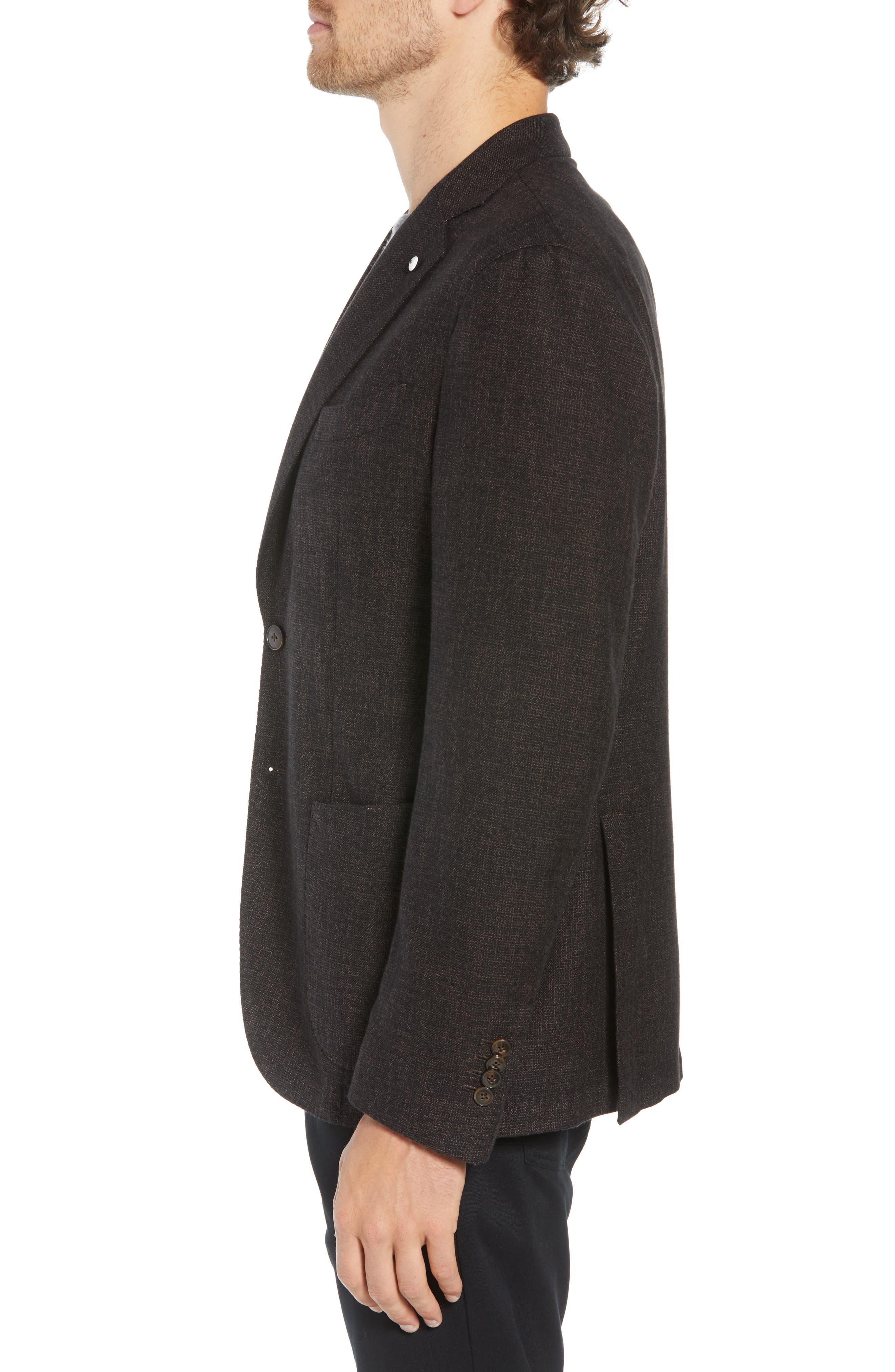 L.B.M 1911 Classic Fit Cotton & Wool Blazer,                             Alternate thumbnail 3, color,                             BROWN