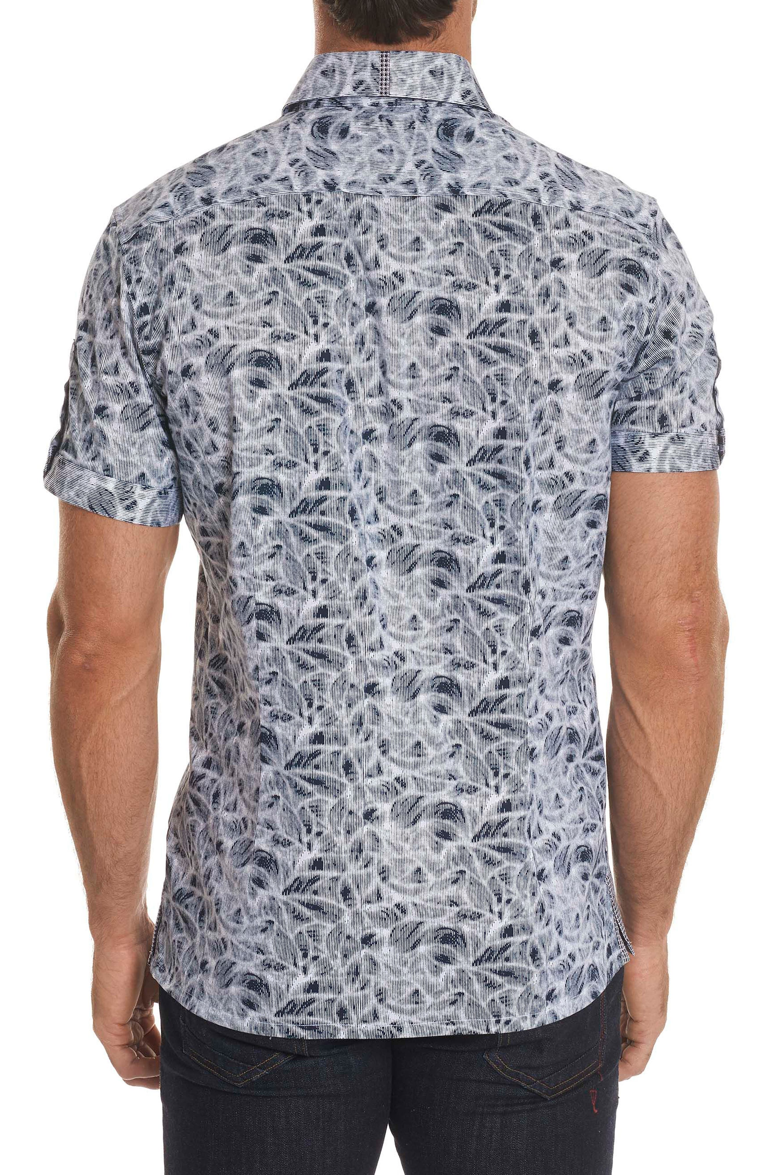 Booker Tailored Fit Print Sport Shirt,                             Alternate thumbnail 3, color,