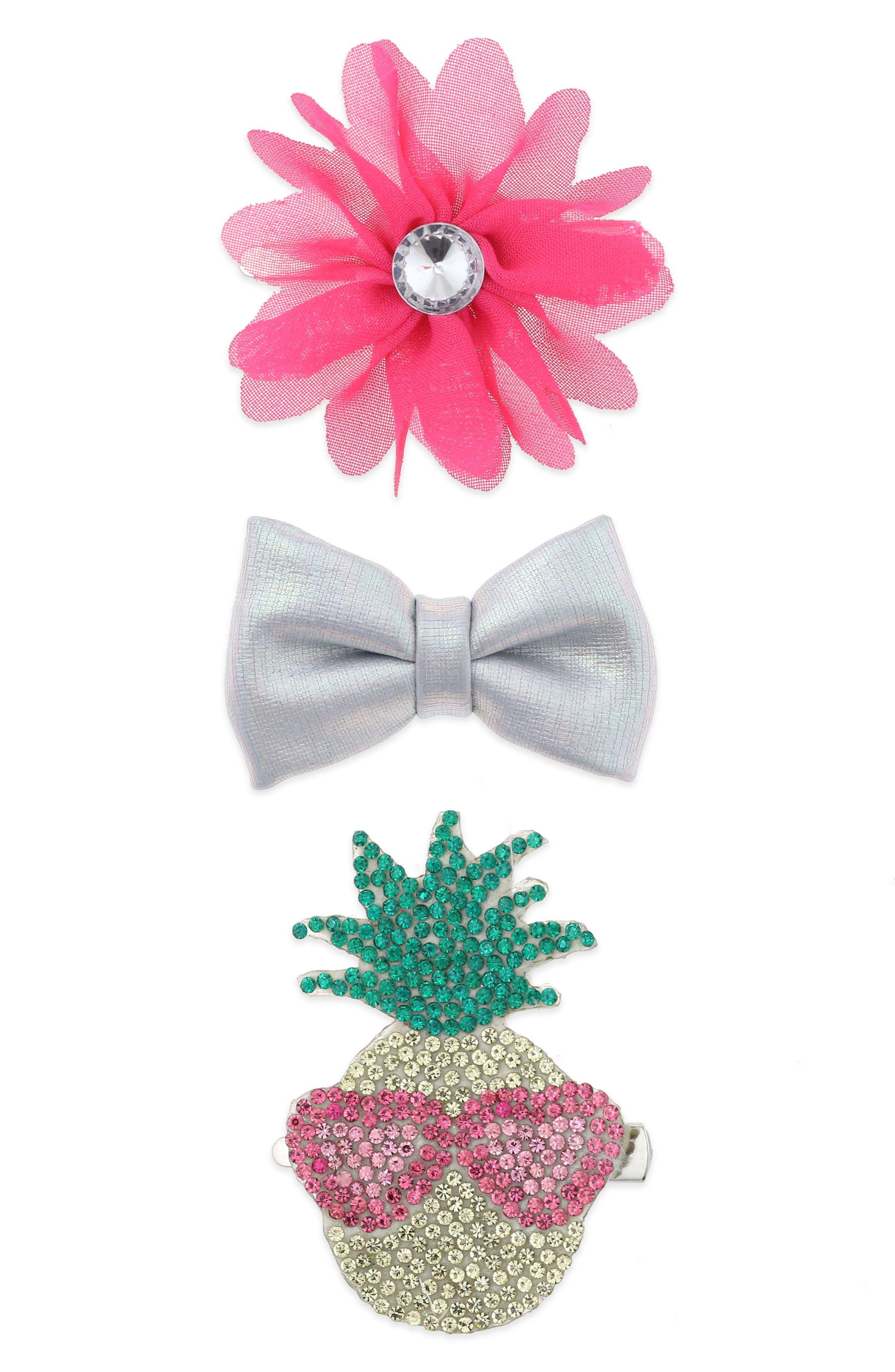 3-Piece Hair Clip Set,                         Main,                         color,