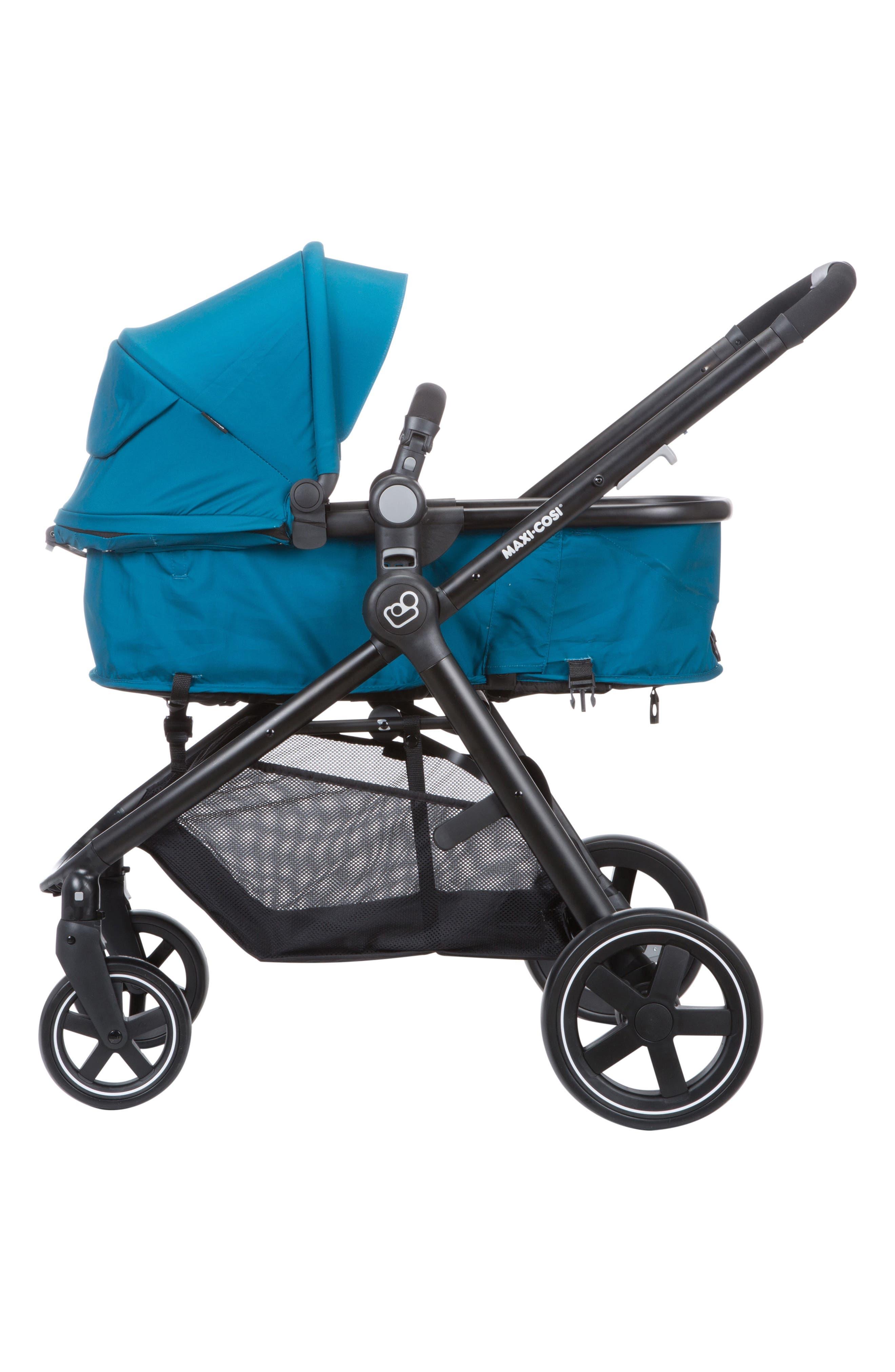 5-1 Mico 30 Infant Car Seat & Zelia Stroller Modular Travel System,                             Alternate thumbnail 10, color,                             EMERALD TIDE