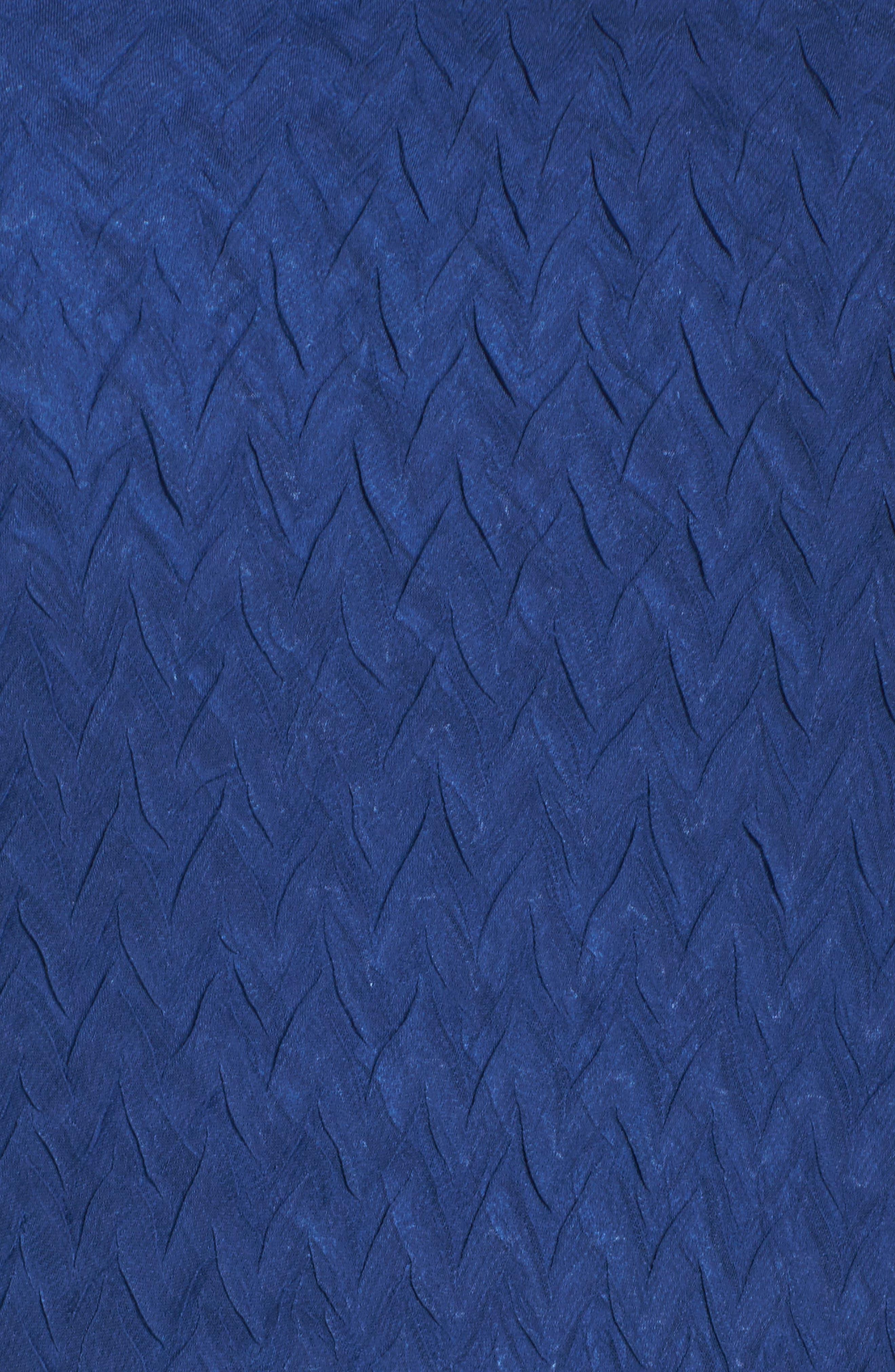 Charmeuse & Chiffon A-Line Dress,                             Alternate thumbnail 5, color,                             484