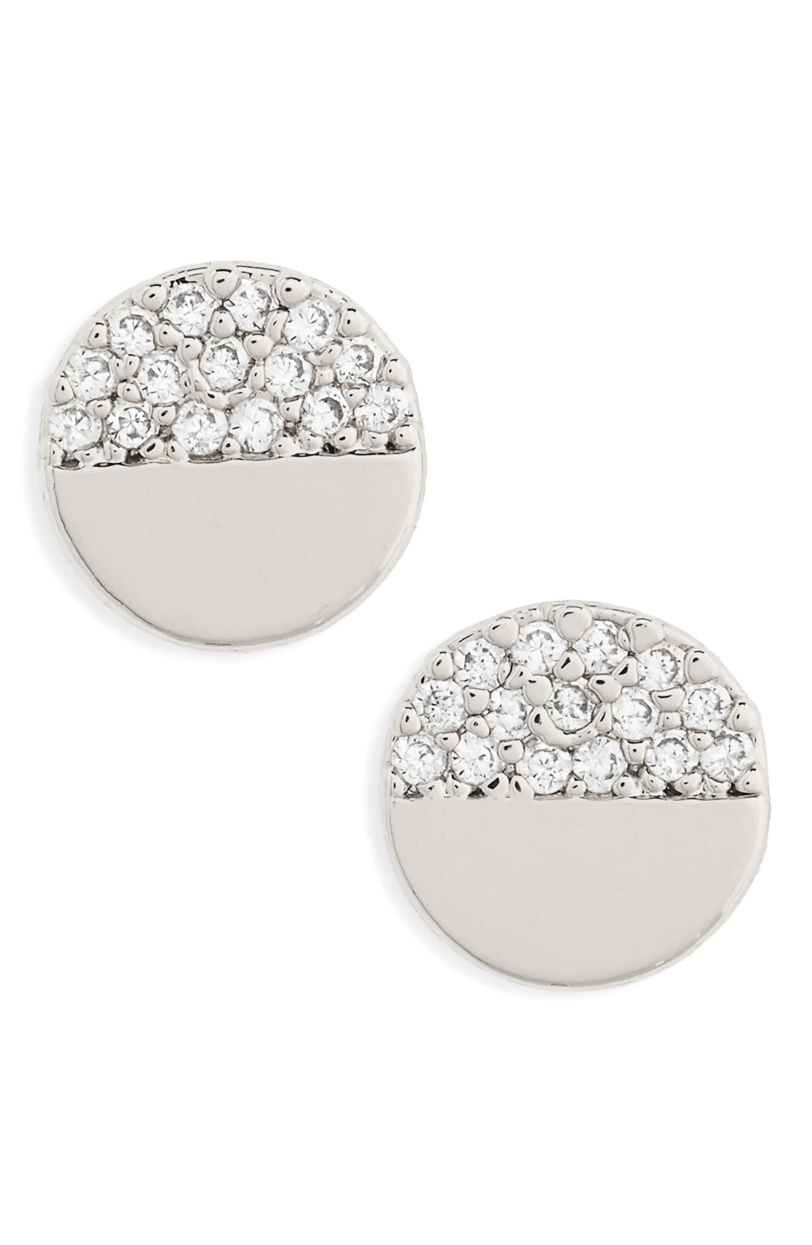 Circle Stud Earrings,                         Main,                         color, 040