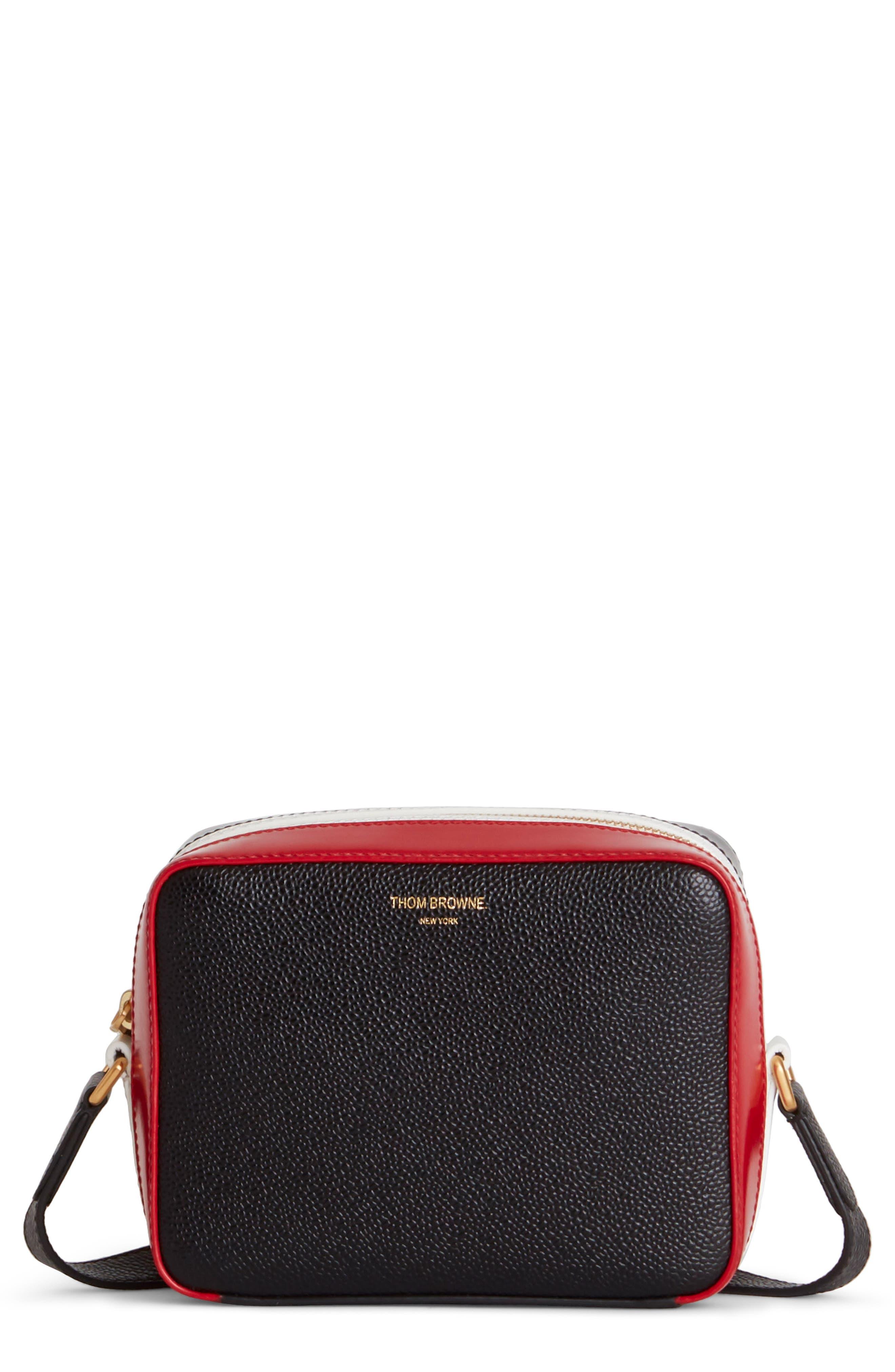 Mini Business Leather Camera Bag - Black