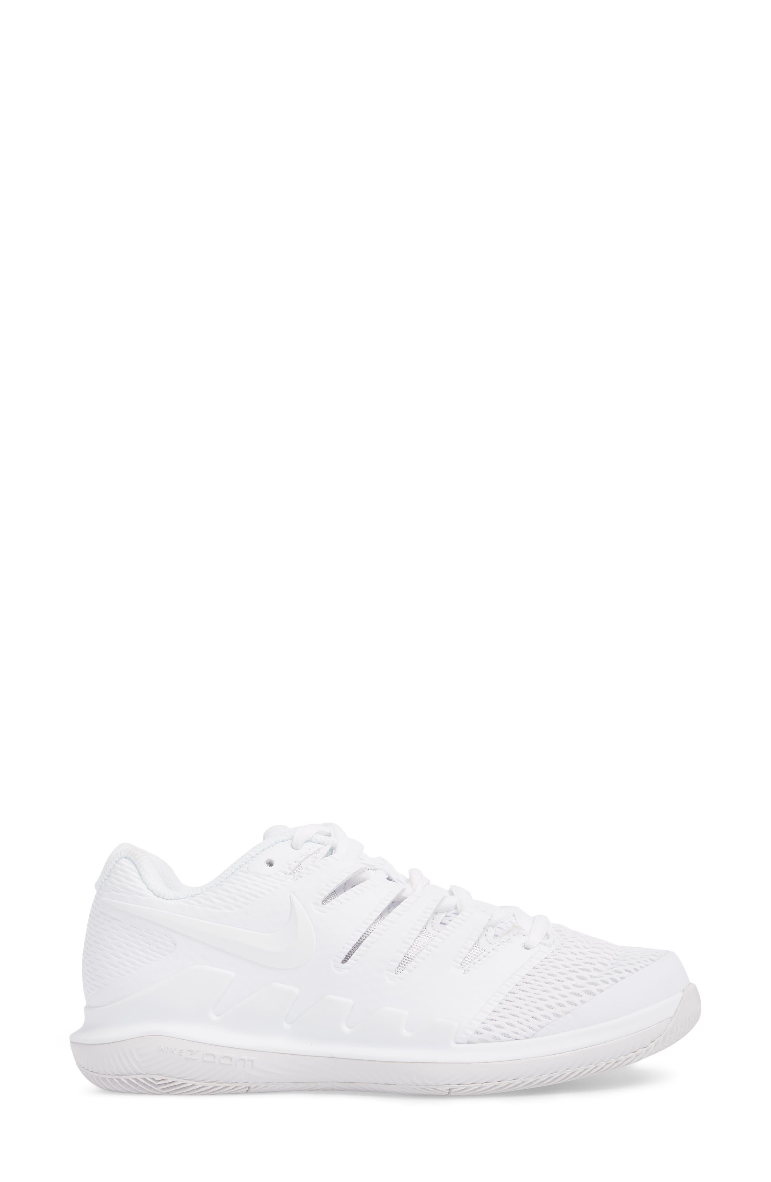 Air Zoom Vapor X Tennis Shoe,                             Alternate thumbnail 3, color,                             WHITE/ WHITE/ VAST GREY