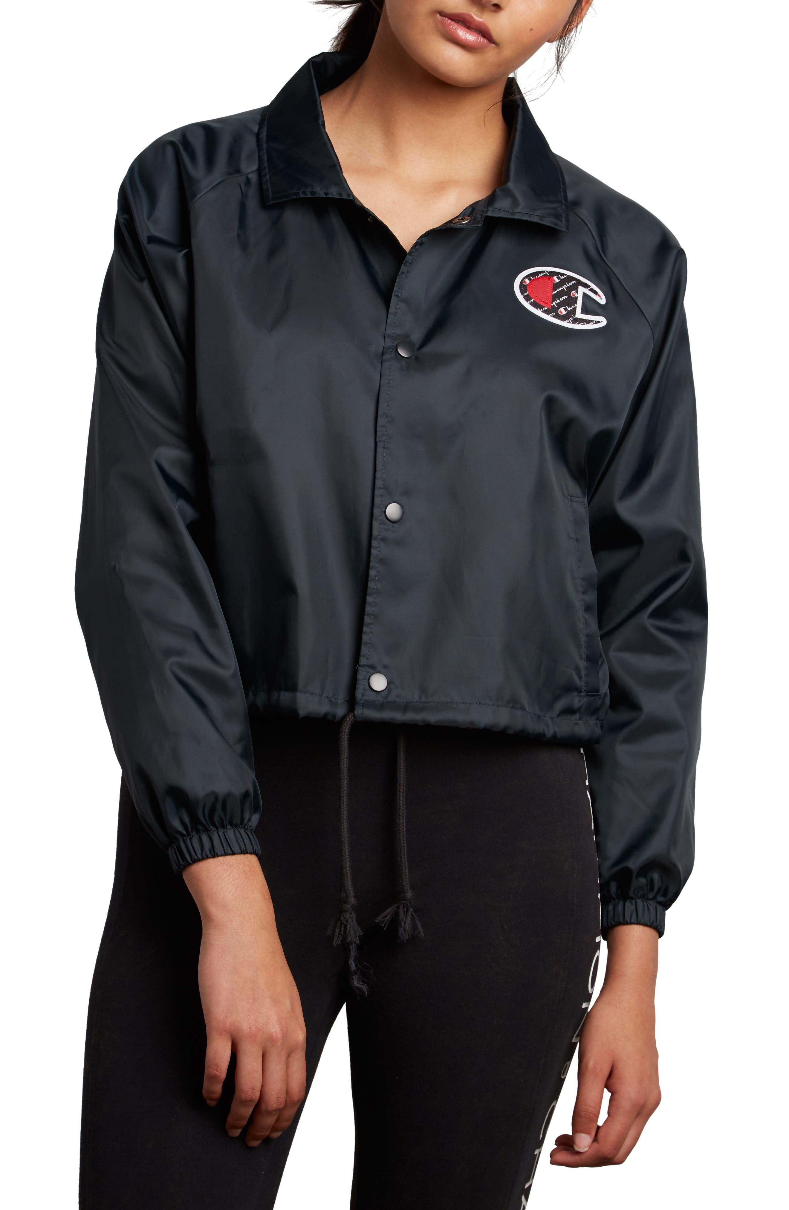 Coaches Crop Jacket,                         Main,                         color, 001