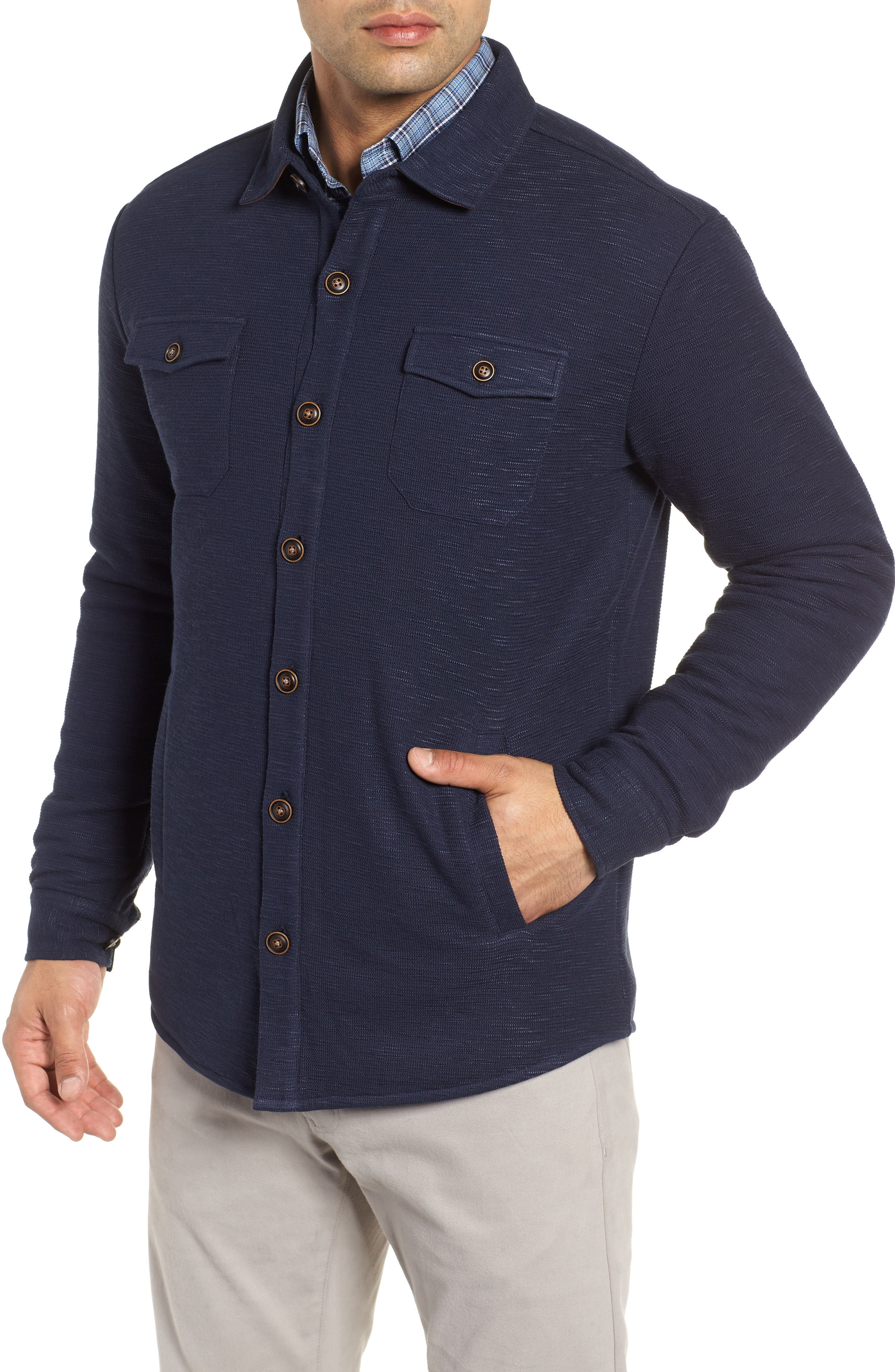 PETER MILLAR,                             Mountainside Shirt Jacket,                             Alternate thumbnail 4, color,                             ATLANTIC BLUE