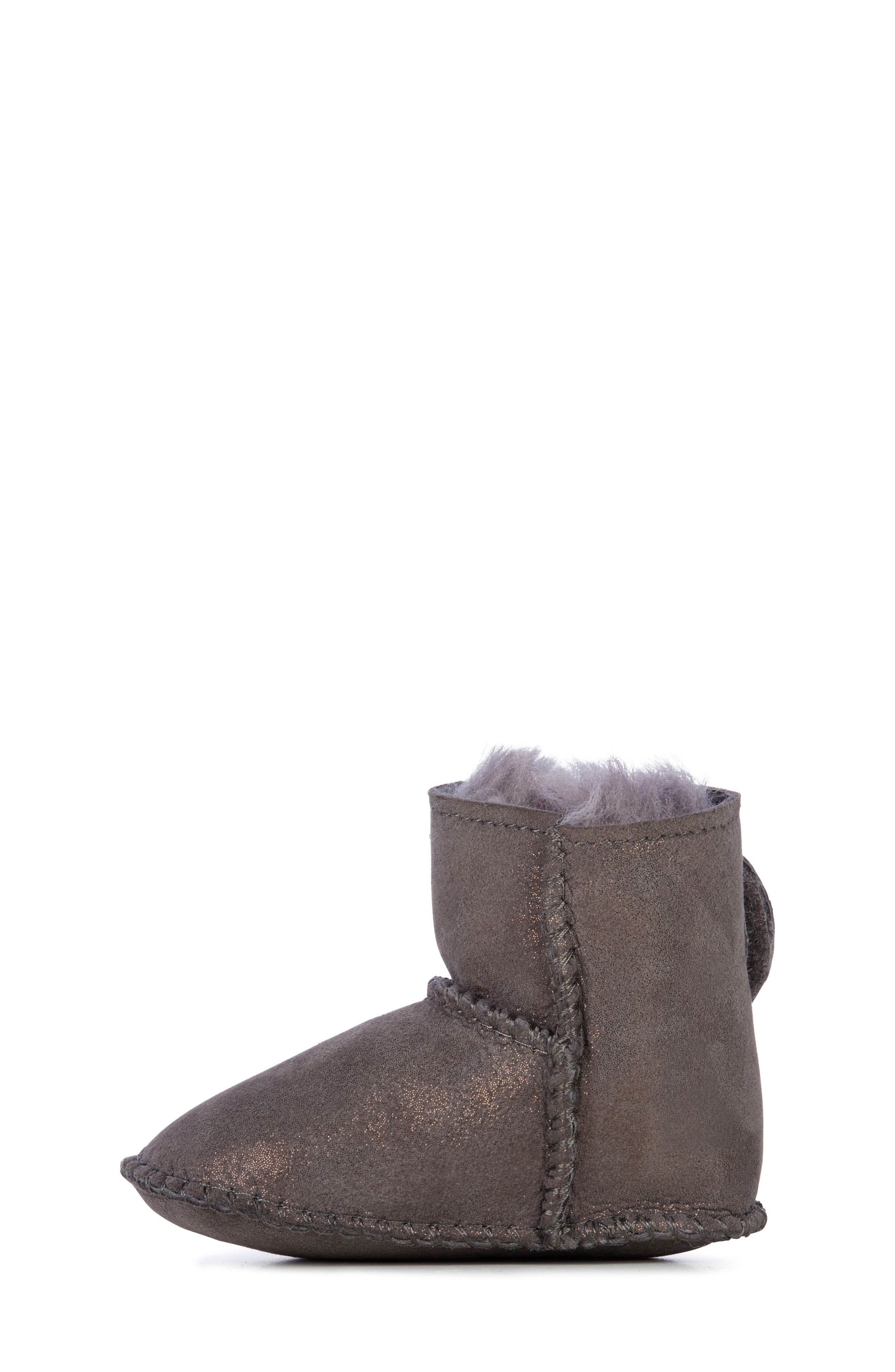Water Resistant Metallic Bootie,                             Alternate thumbnail 8, color,                             CHARCOAL