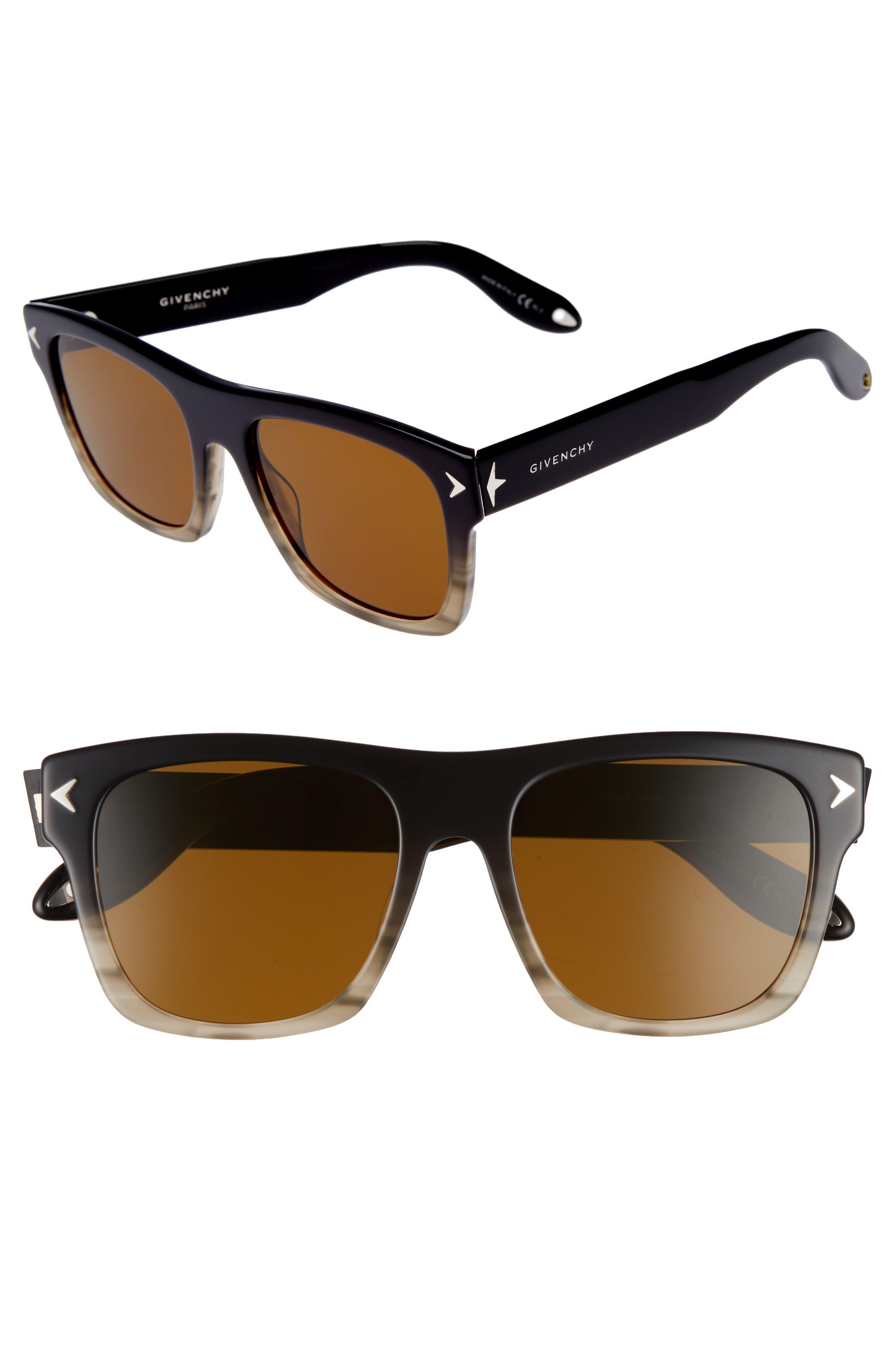 55mm Square Sunglasses,                         Main,                         color, 020