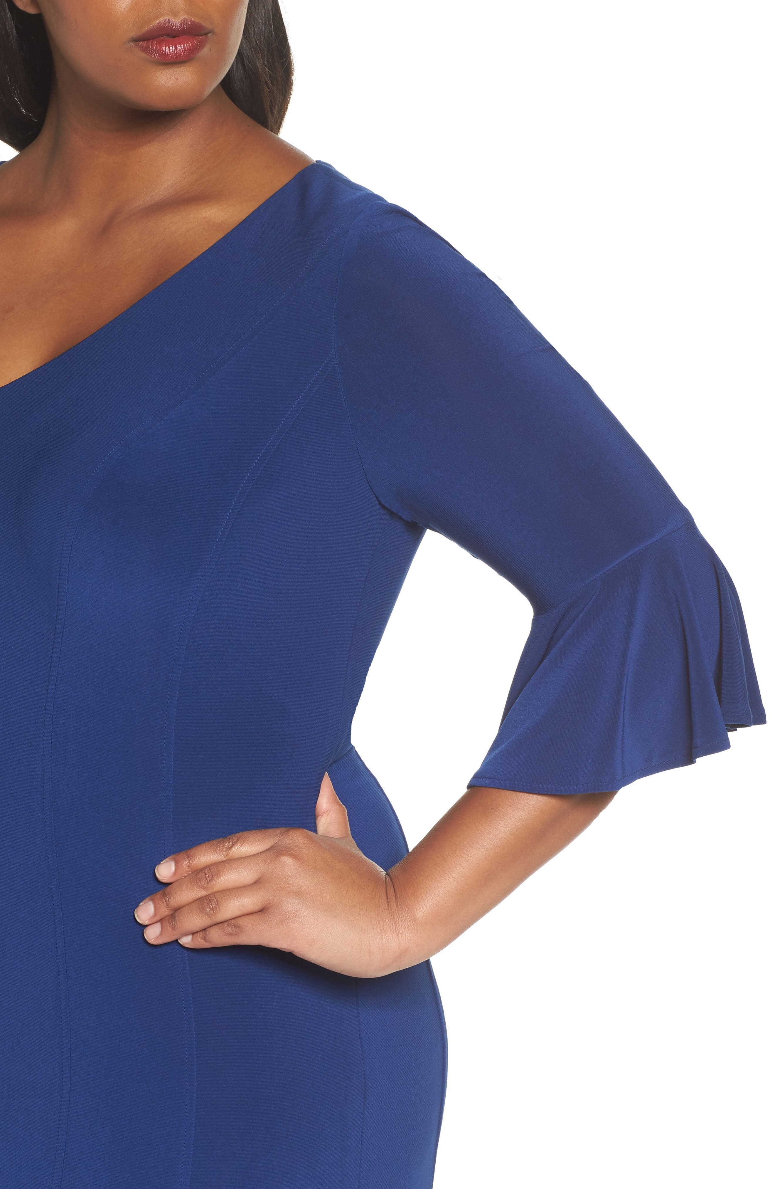 Fit & Flare Gown,                             Alternate thumbnail 4, color,                             406