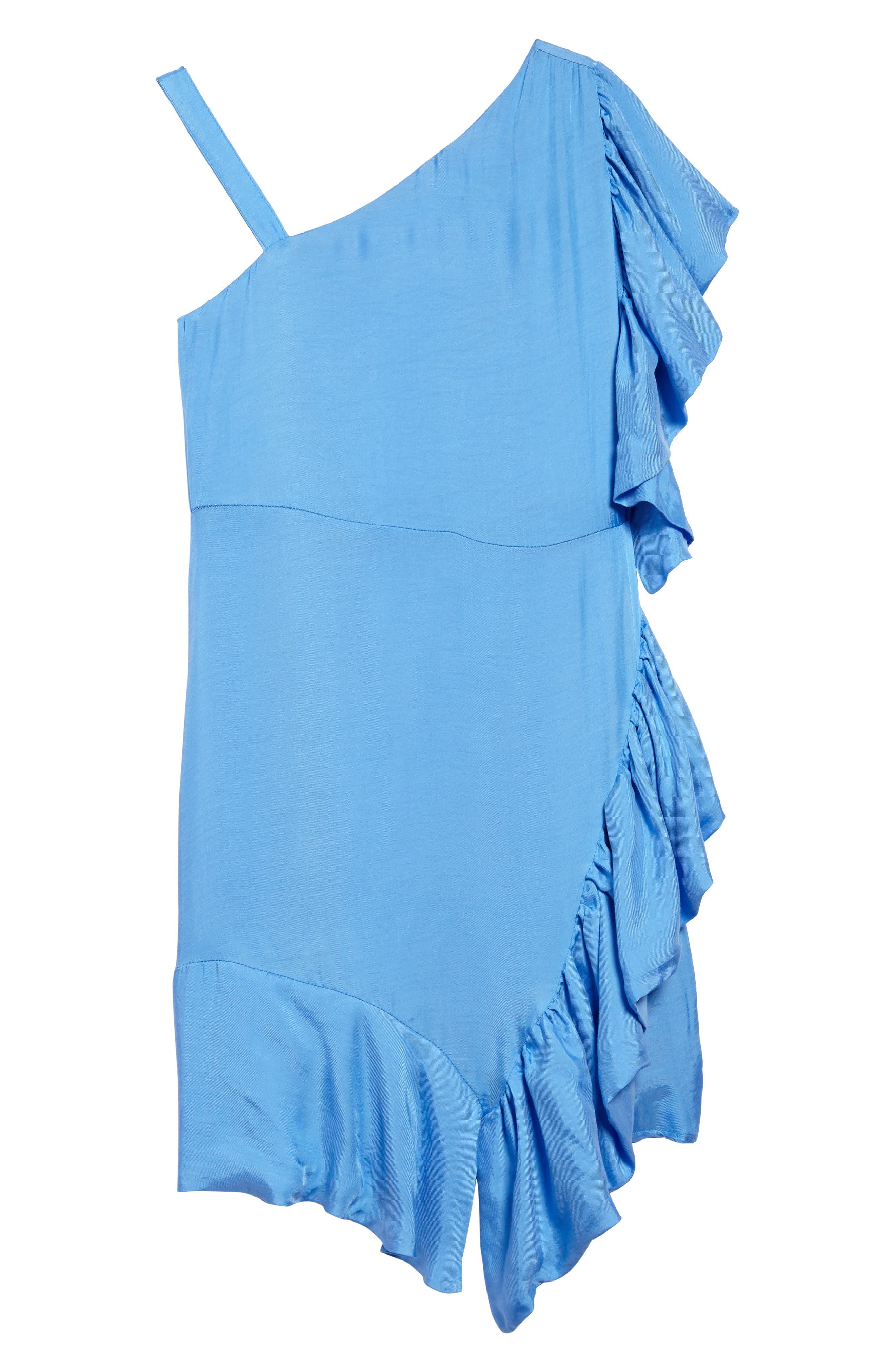 Lucia Asymmetrical Ruffle Dress,                             Main thumbnail 1, color,                             401