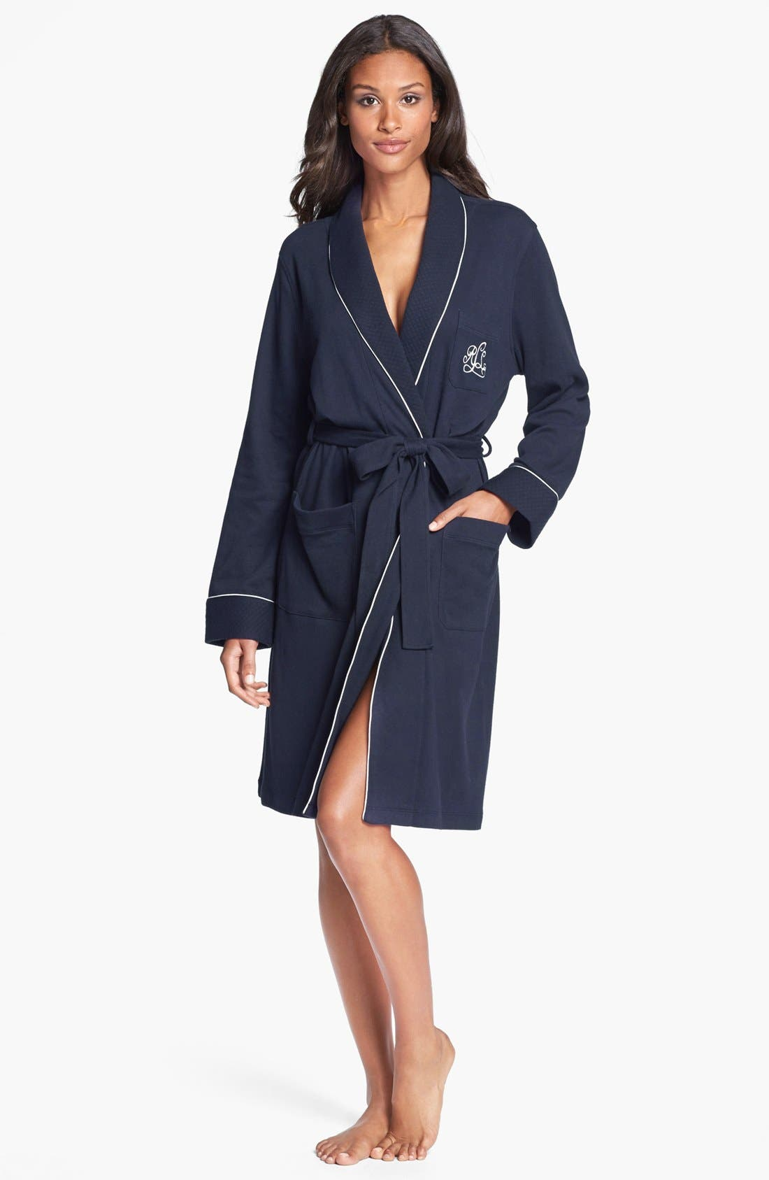 Quilted Collar Robe,                             Main thumbnail 4, color,