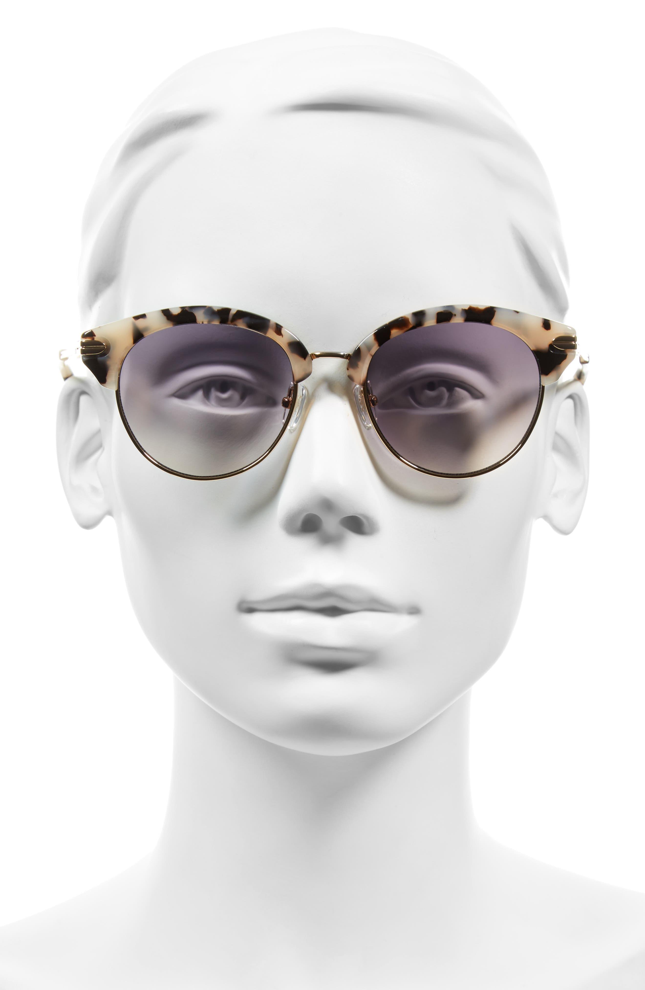 Bellevue 50mm Mirrored Sunglasses,                             Alternate thumbnail 2, color,                             200