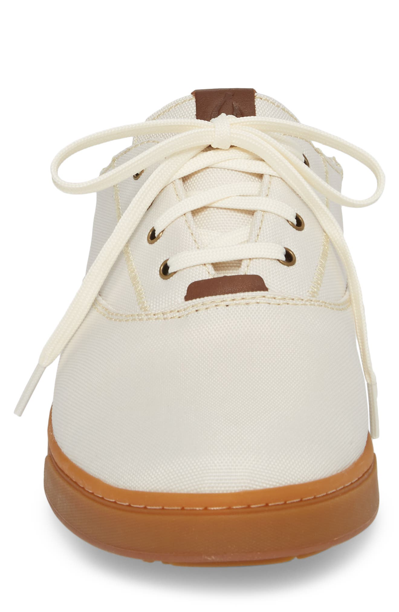 Kahu Collapsible Lace-Up Sneaker,                             Alternate thumbnail 5, color,                             OFF WHITE/ TOFFEE