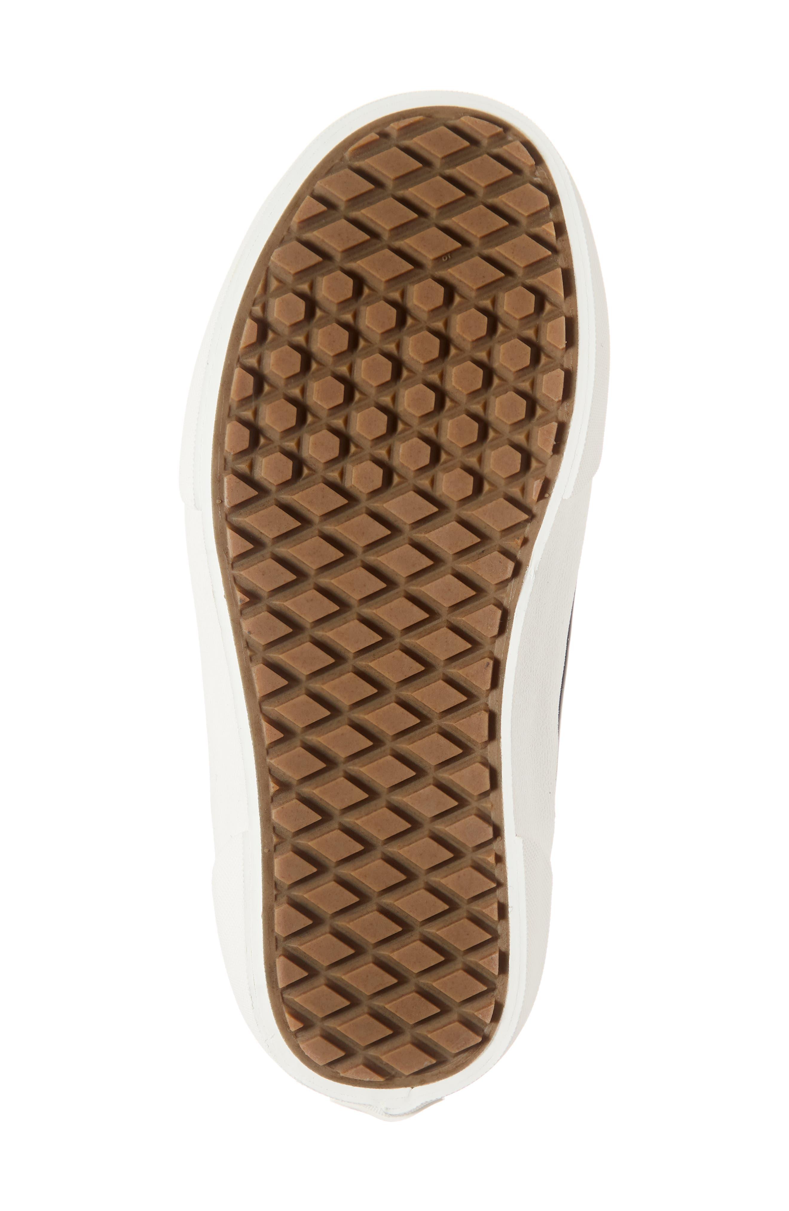 UA Authentic MTE Slip-On Sneaker,                             Alternate thumbnail 6, color,                             BLACK/ MARSHMALLOW