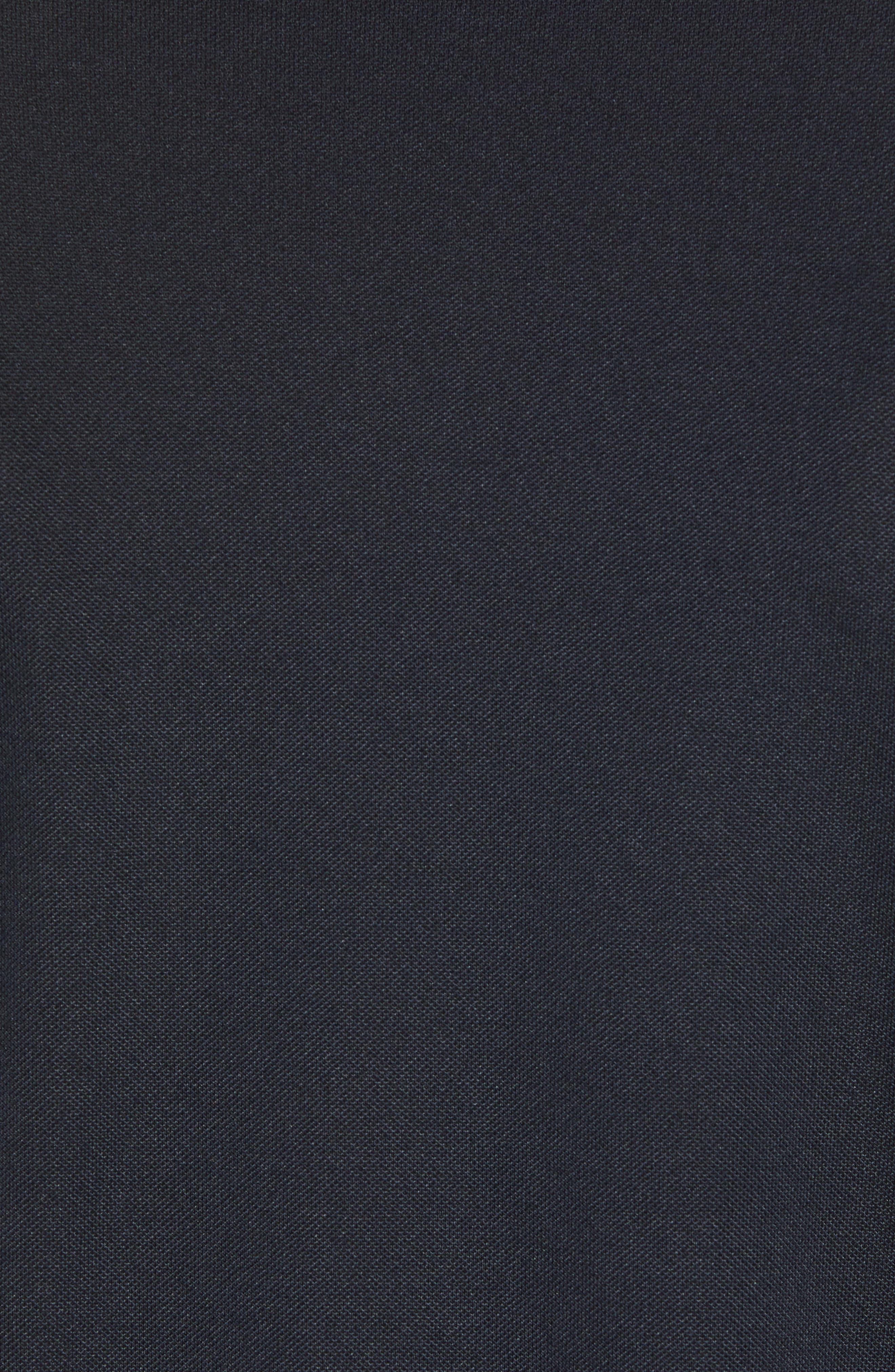 Tempo Regular Fit Sankaty Performance Piqué Polo,                             Alternate thumbnail 5, color,                             002