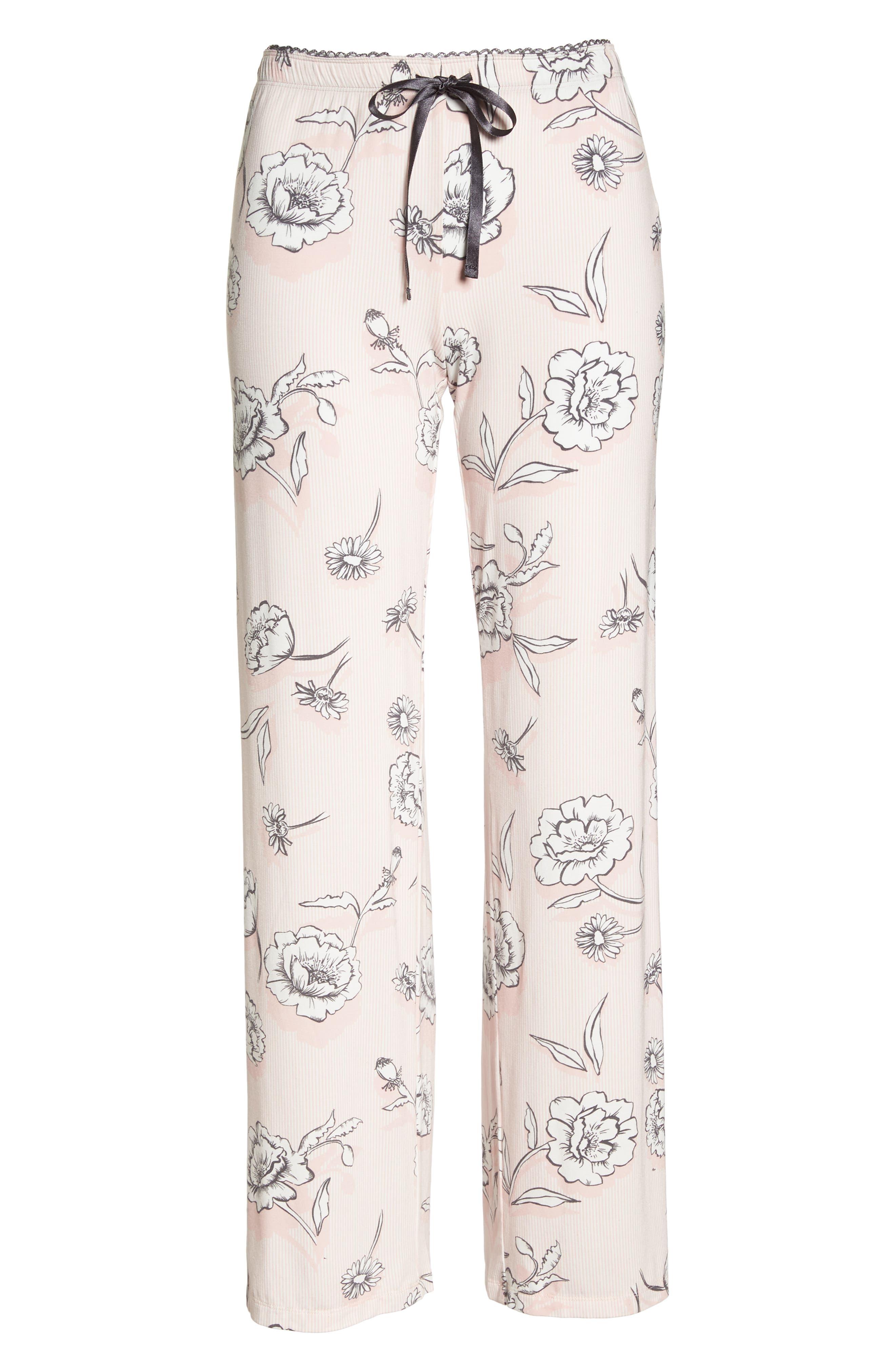 Floral Pajama Pants,                             Alternate thumbnail 6, color,                             650