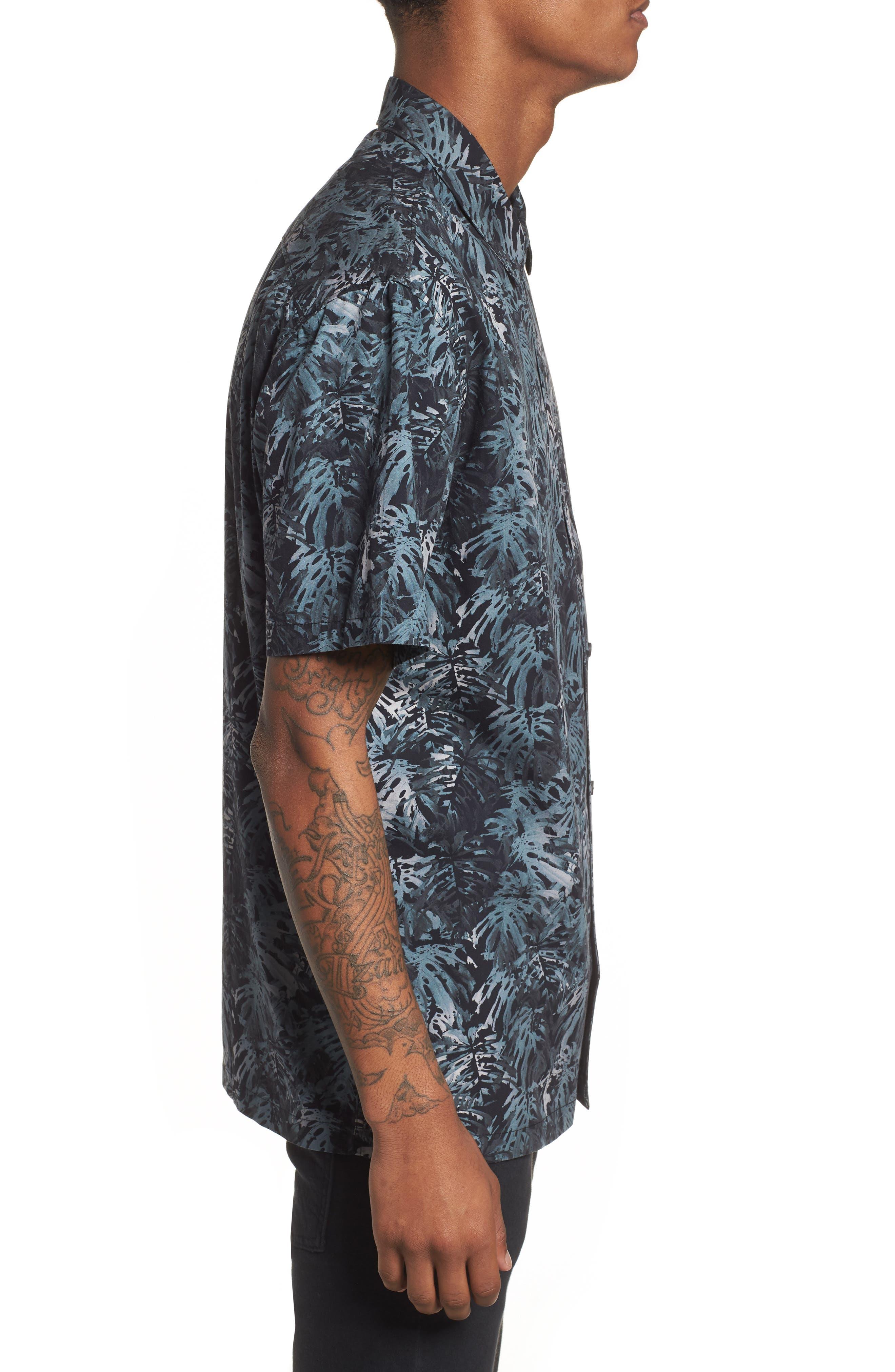 Villa Palms Short Sleeve Woven Shirt,                             Alternate thumbnail 3, color,                             991