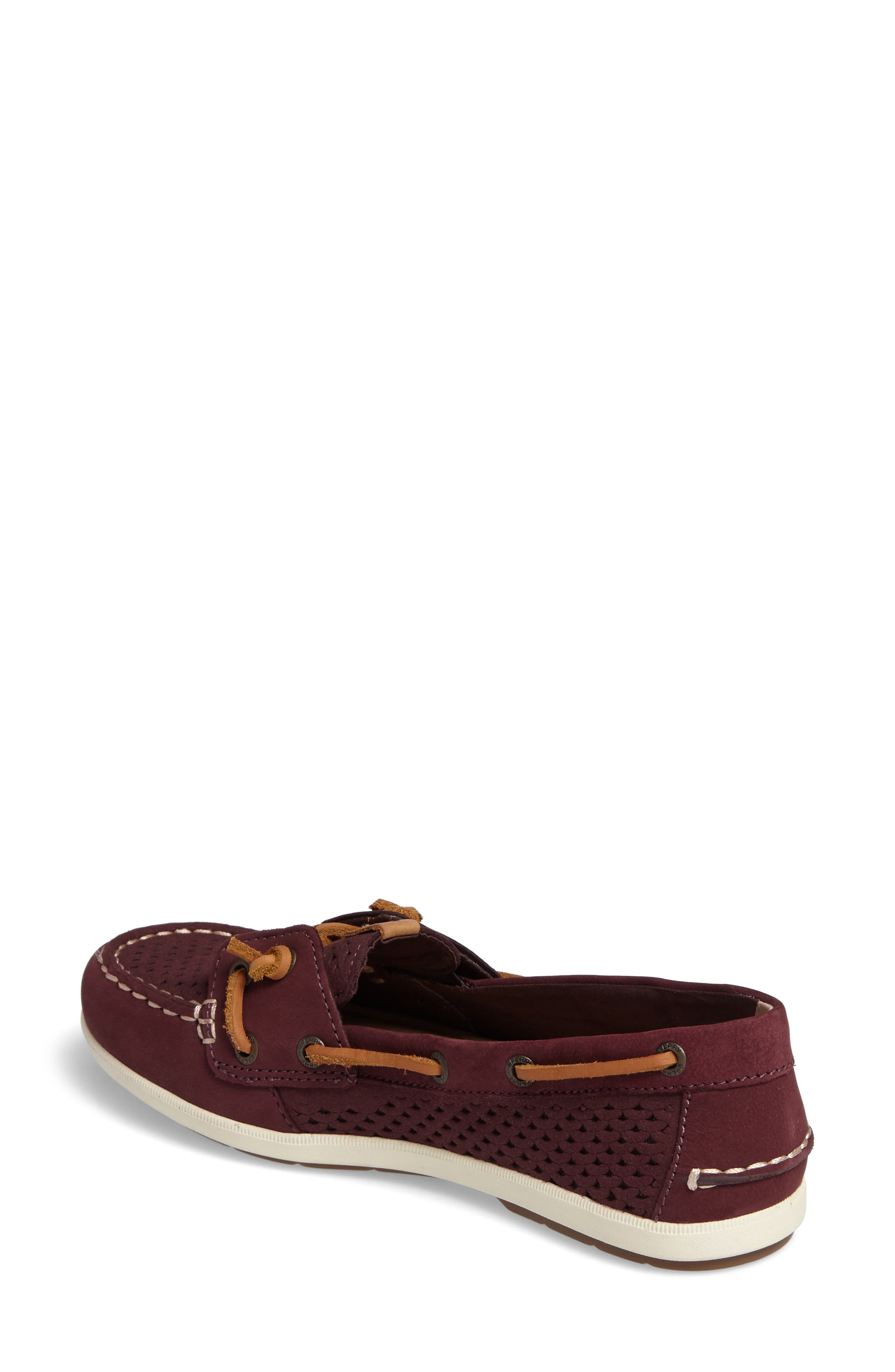 Coil Ivy Perforated Boat Shoe,                             Alternate thumbnail 2, color,