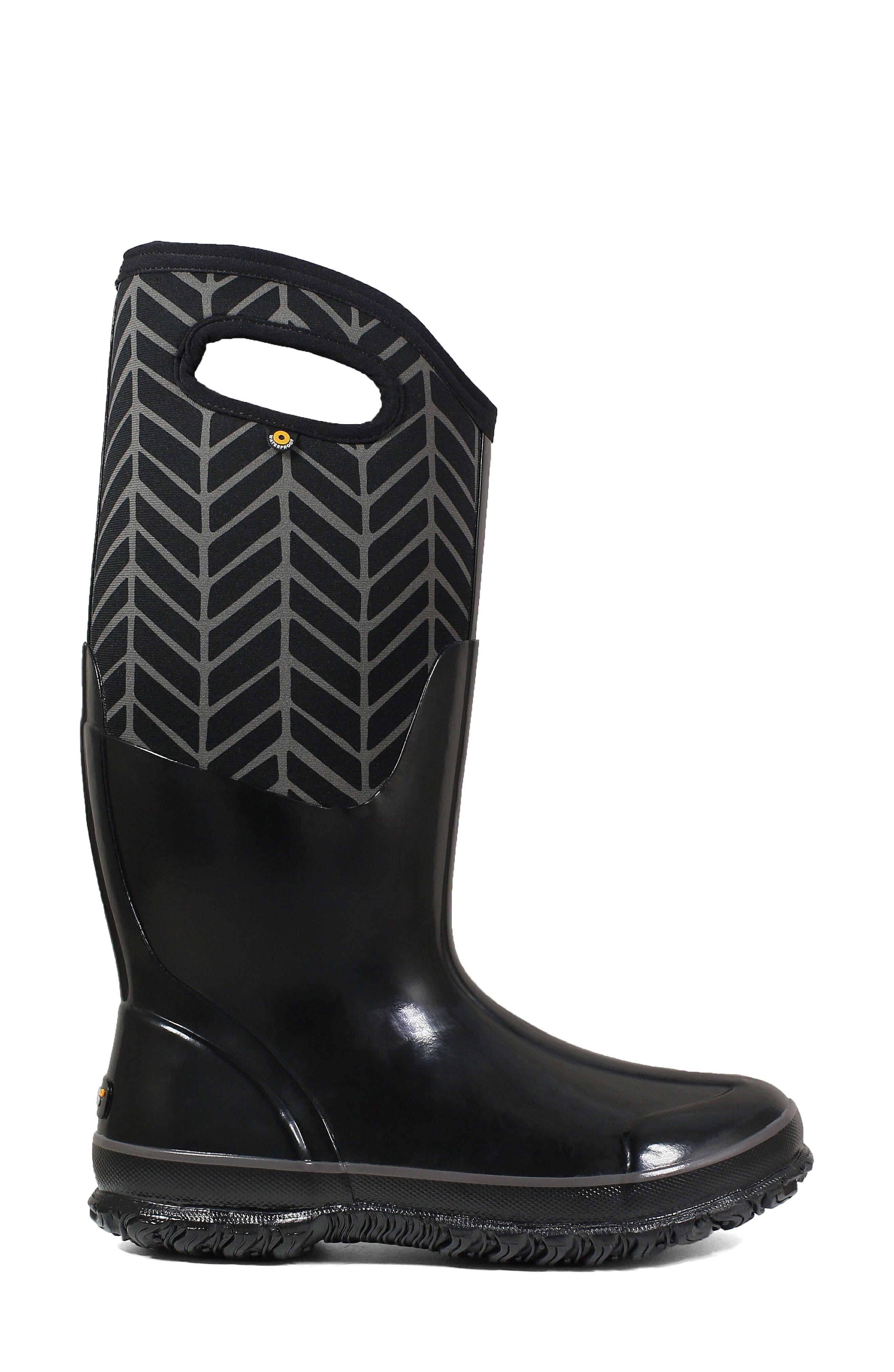 BOGS,                             Classic Tall Badge Waterproof Snow Boot,                             Alternate thumbnail 3, color,                             009
