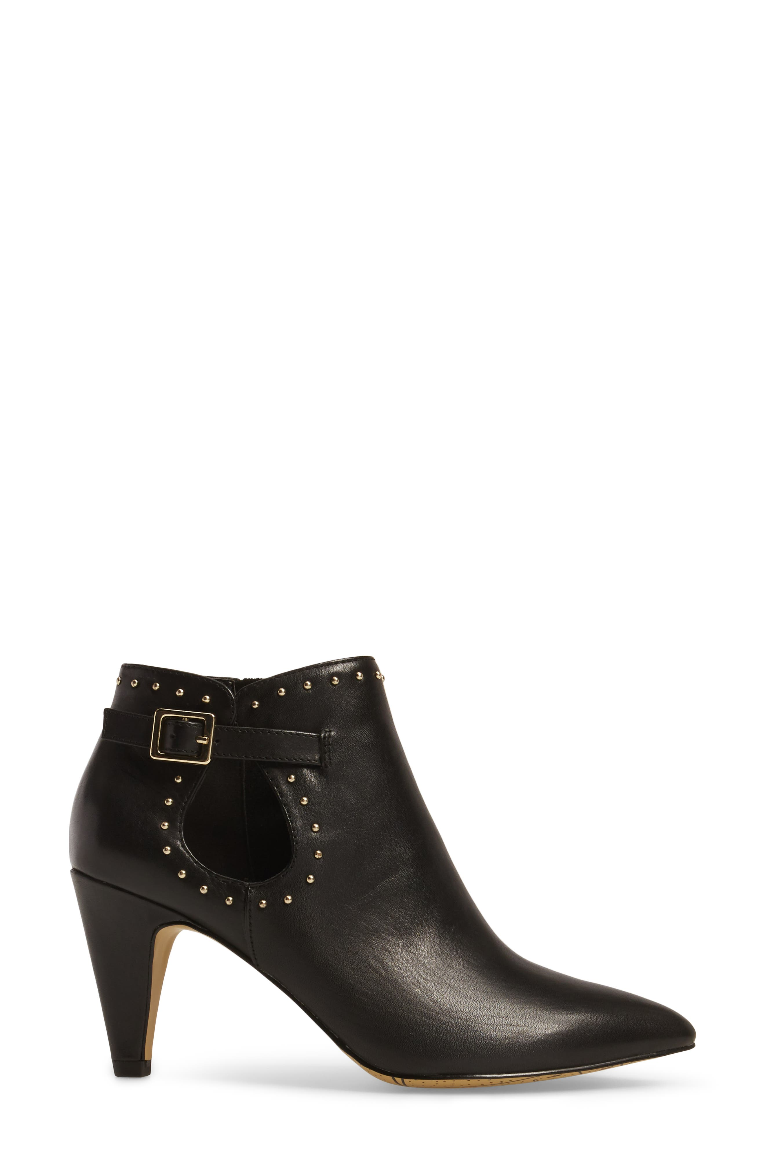 Delfina Pointy Toe Bootie,                             Alternate thumbnail 3, color,                             001