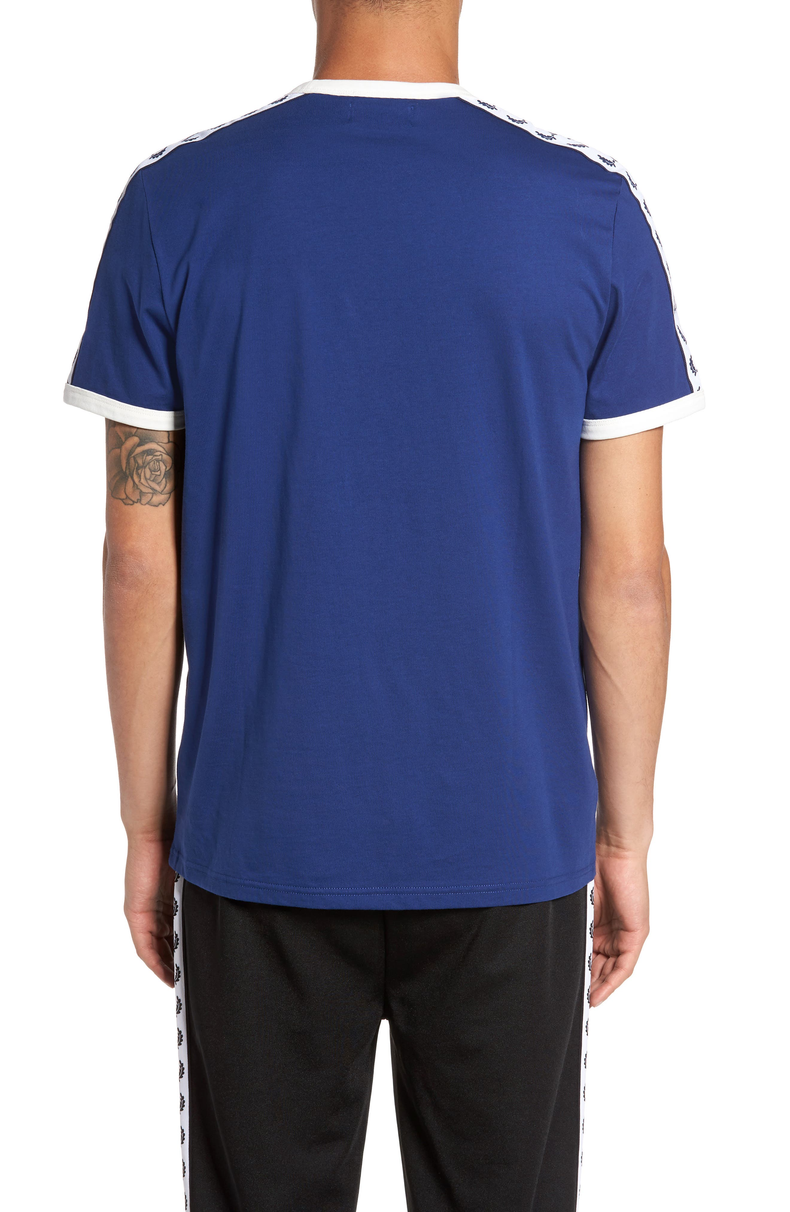 Extra Trim Fit Cotton Ringer T-Shirt,                             Alternate thumbnail 2, color,                             405